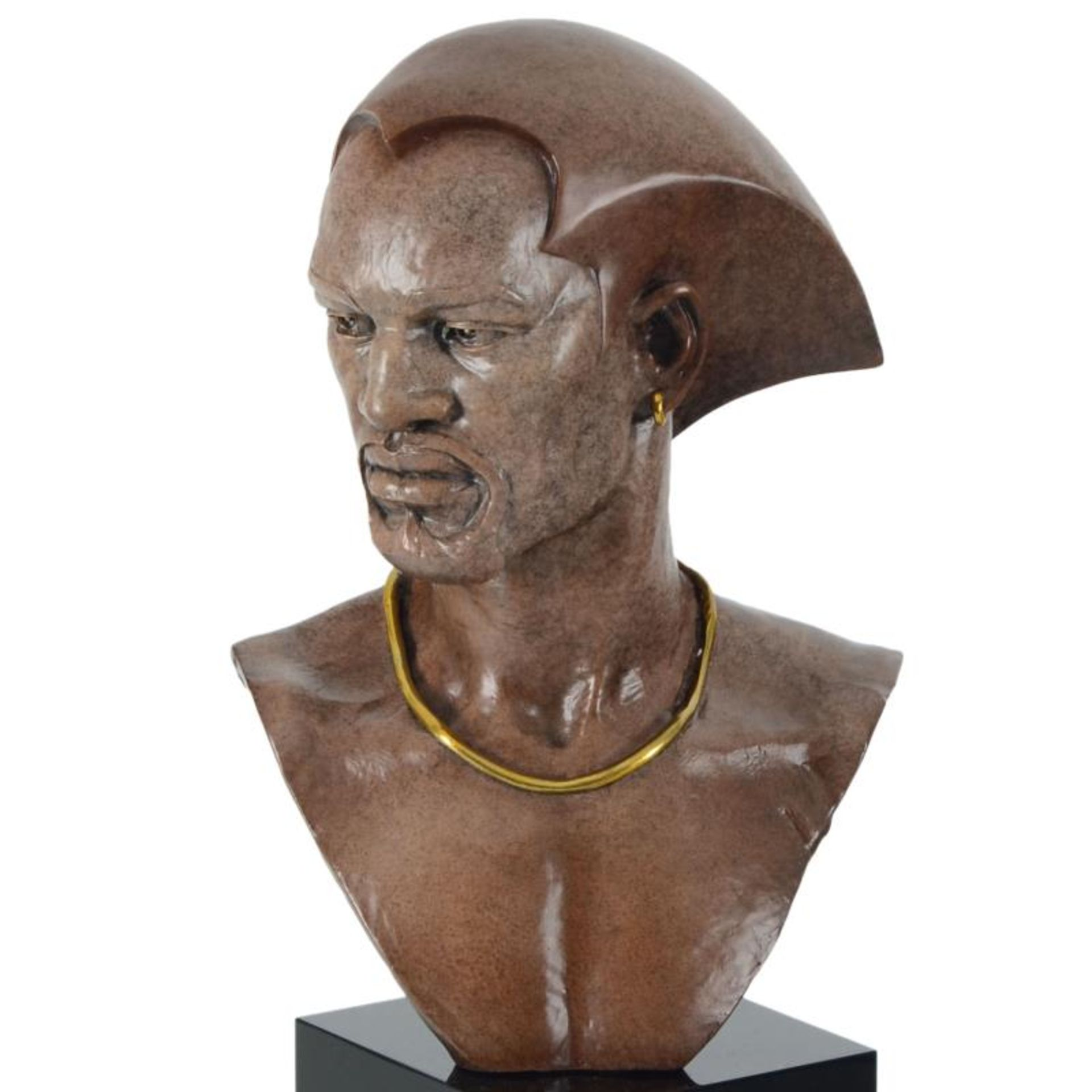 """Thomas Blackshear, """"Remembering"""" Limited Edition Mixed Media Sculpture on Marble - Image 2 of 3"""