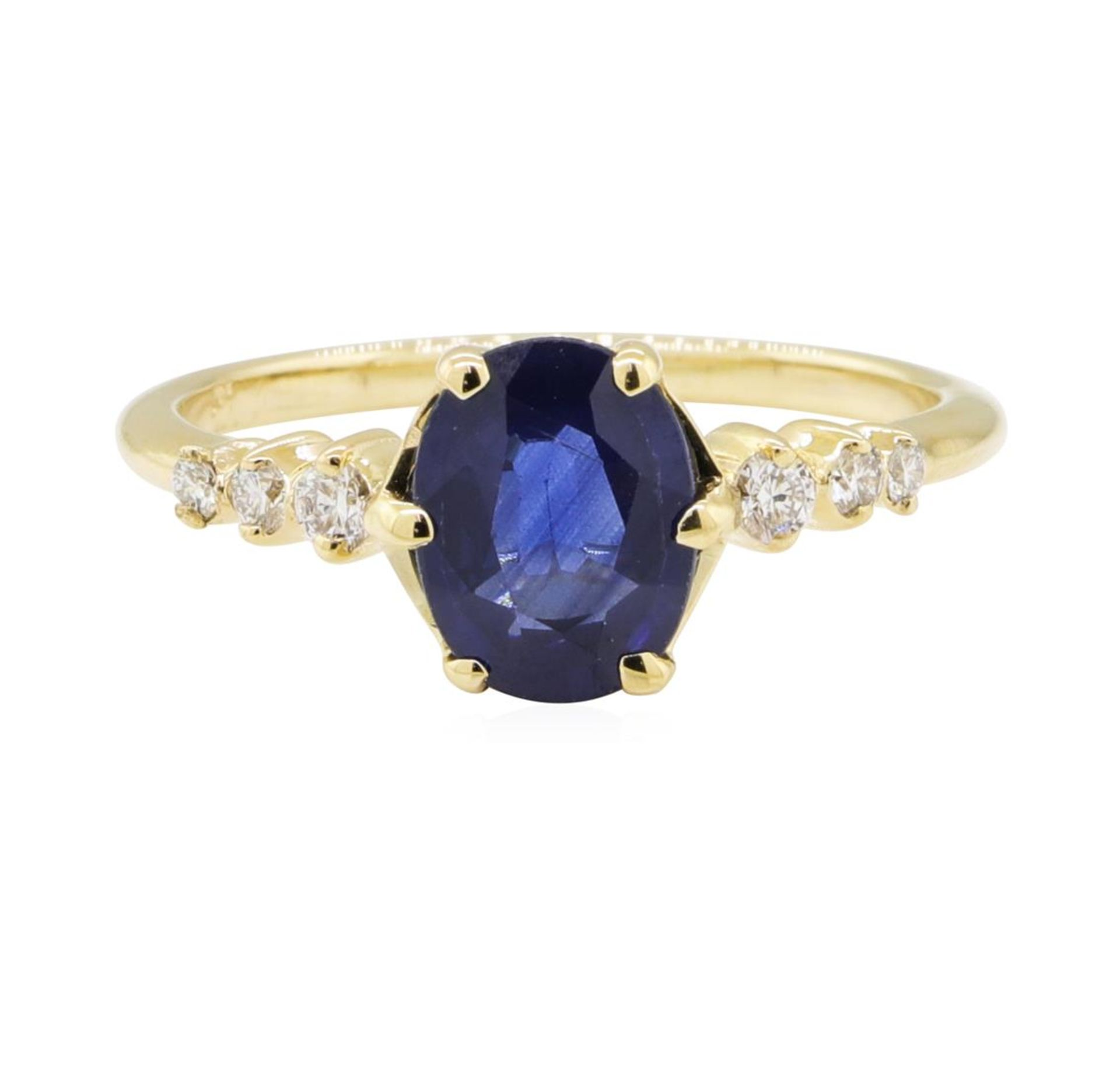 1.43ctw Sapphire and Diamond Ring - 14KT Yellow Gold - Image 2 of 4