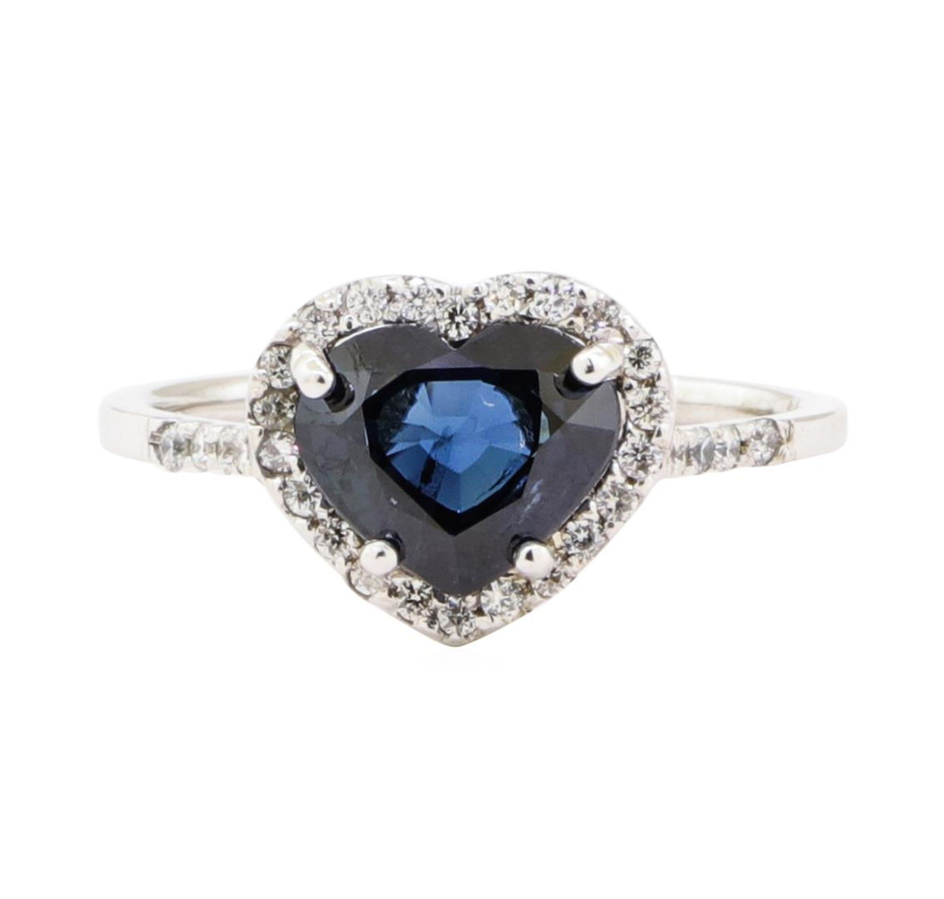 2.66 ctw Sapphire And Diamond Ring - 18KT White Gold - Image 2 of 5