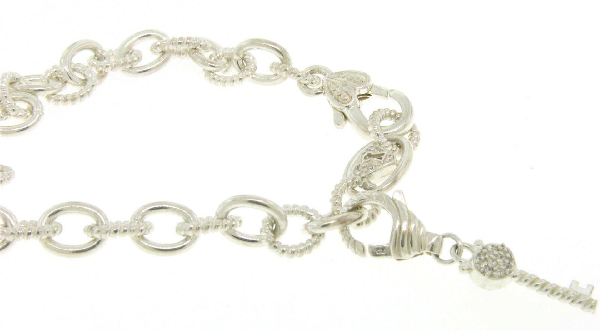 Elaborate JUDITH RIPKA Solid .925 Sterling Silver Chain w/ Diamonique Key Enhanc - Image 3 of 3