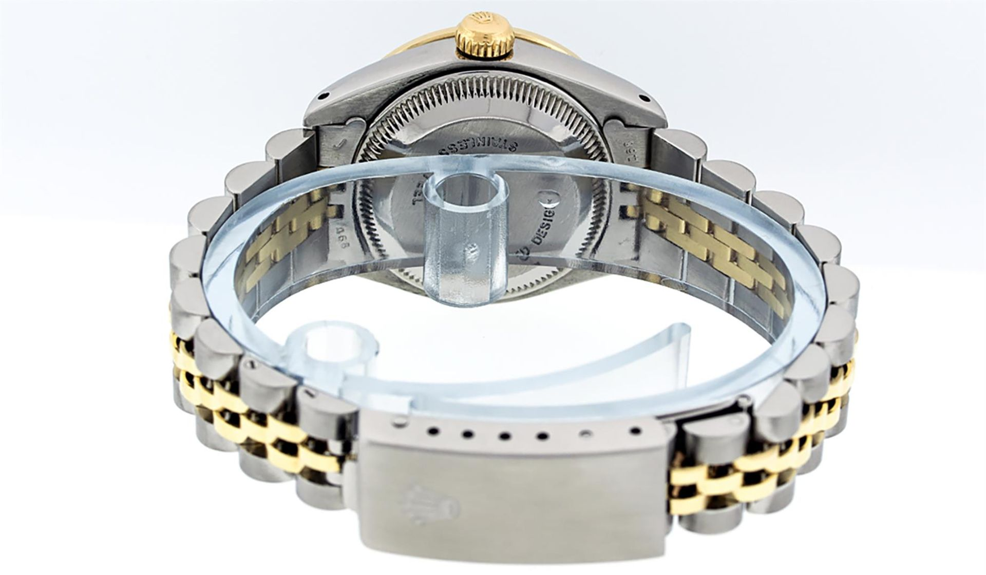 Rolex Ladies 2 Tone MOP Sapphire & Ruby 26MM Oyster Perpetual Datejust Wriswatch - Image 7 of 9