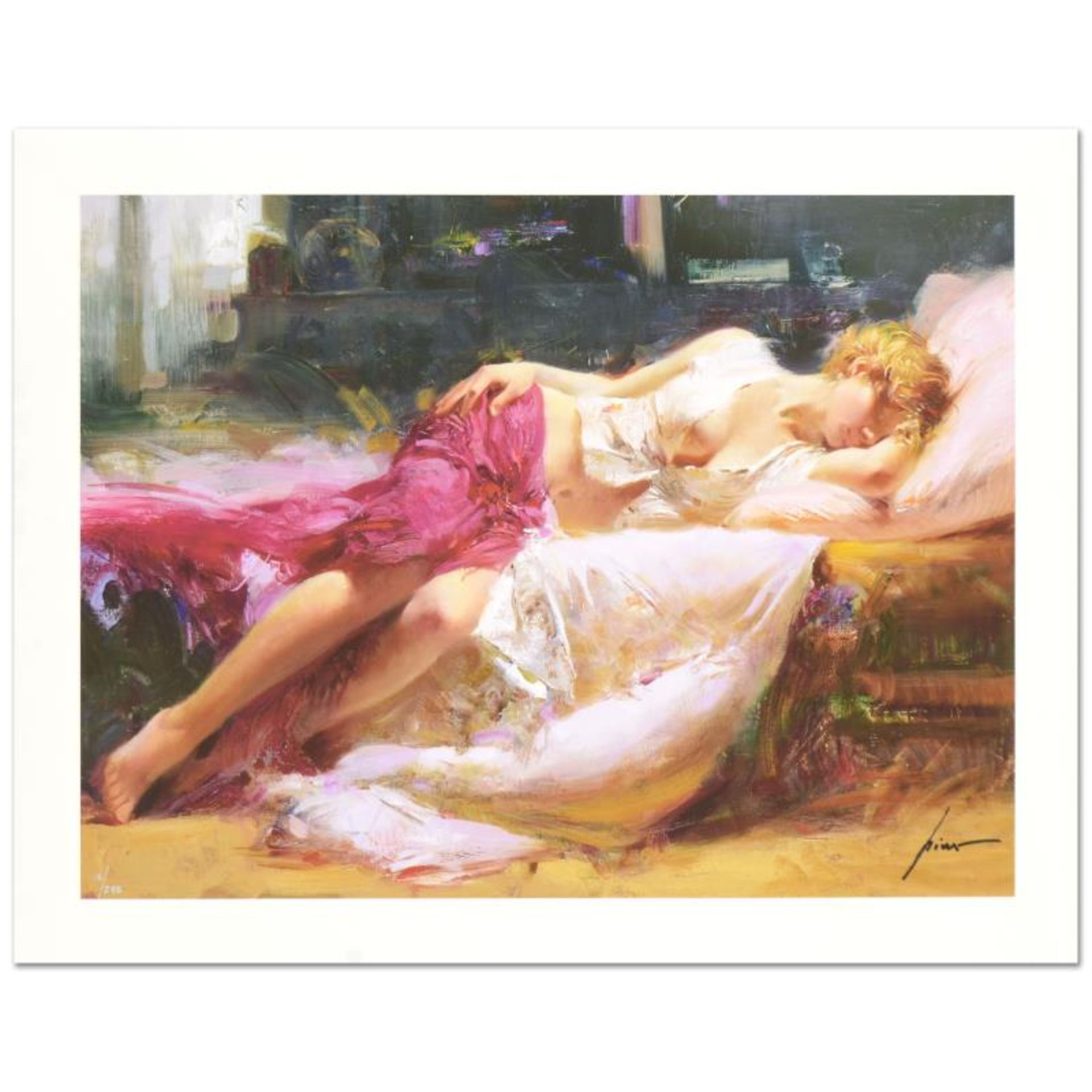 """Pino (1939-2010) """"Dreaming in Color"""" Limited Edition Giclee. Numbered and Hand S"""