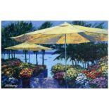 """Howard Behrens (1933-2014), """"Flowers by the Sea"""" Limited Edition Hand Embellishe"""