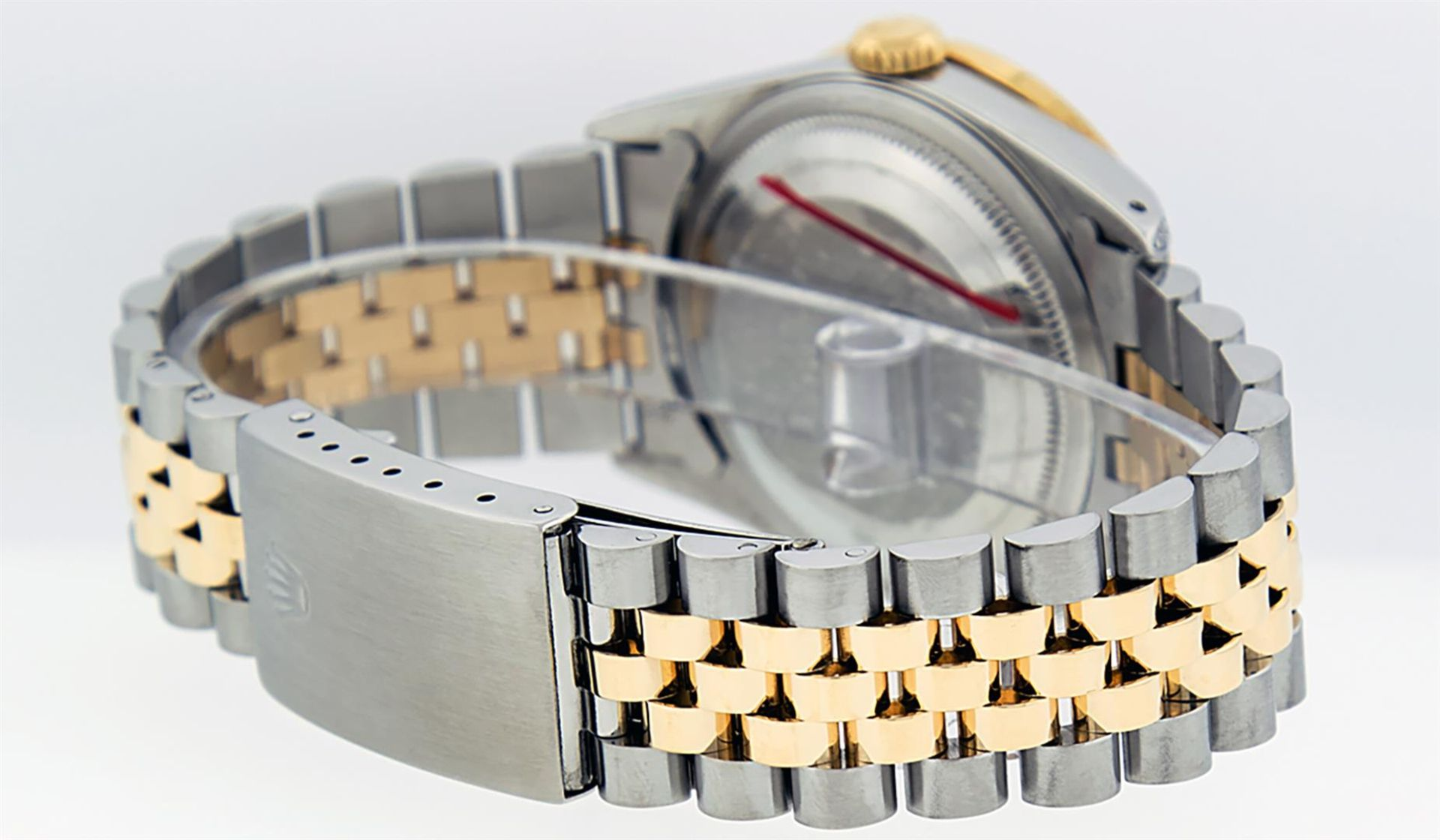 Rolex Mens 2 Tone Blue Vignette String Diamond Lugs Datejust Wristwatch - Image 4 of 8