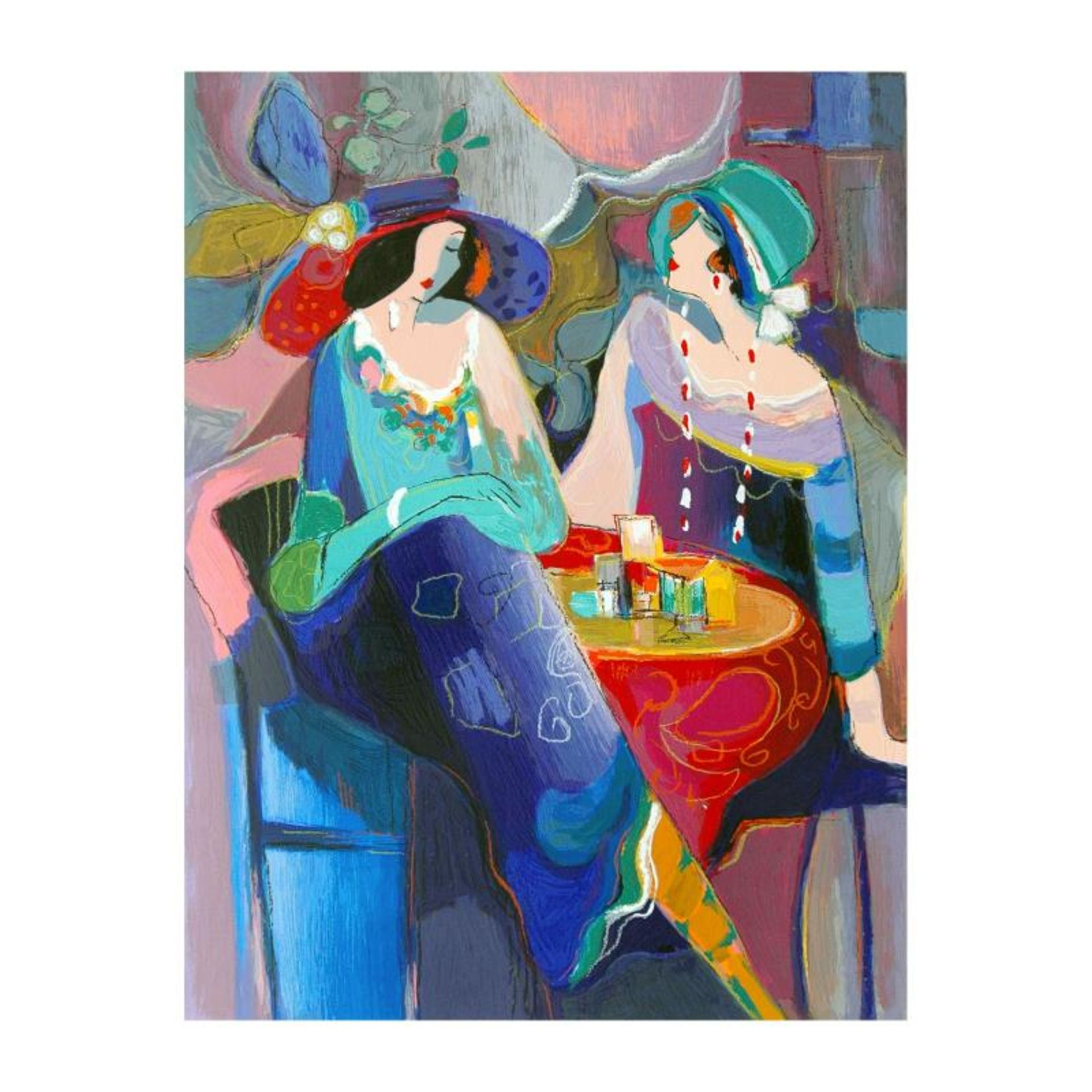 """Isaac Maimon, """"Pastel Gathering"""" Limited Edition Serigraph, Numbered and Hand Si"""
