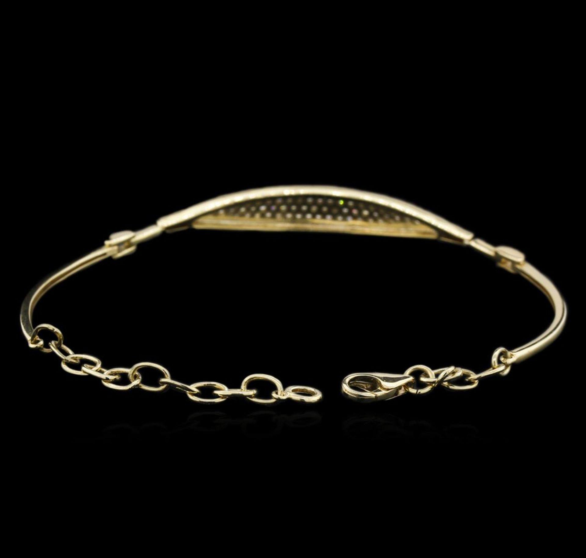 0.33 ctw Diamond Bracelet - 14KT Yellow Gold - Image 3 of 3