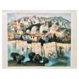 "Gregory Kohelet, ""Sunrise in Jerusalem"" Hand Signed Limited Edition Serigraph wi"