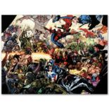 """Marvel Comics """"Secret Invasion #6"""" Numbered Limited Edition Giclee on Canvas by"""