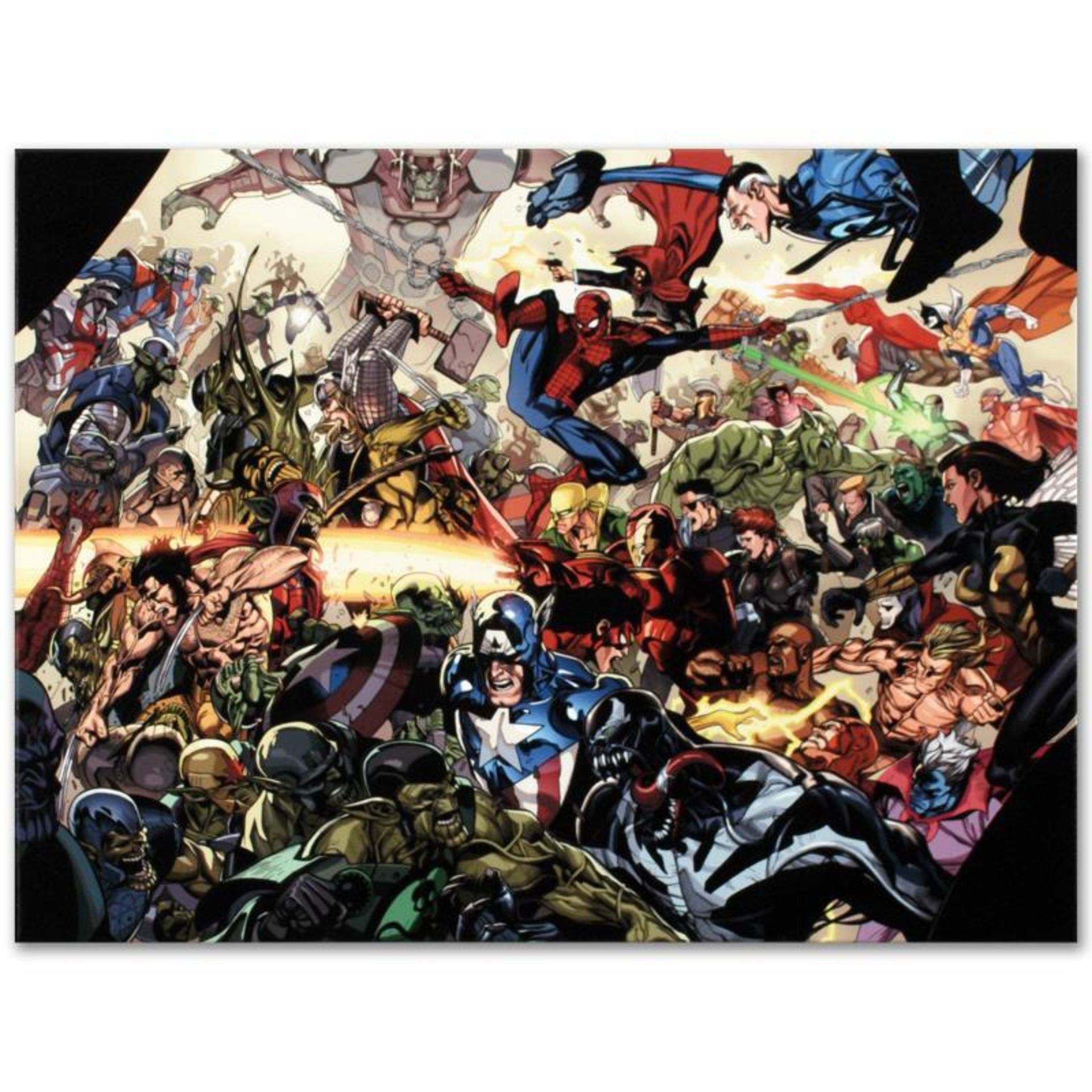 "Marvel Comics ""Secret Invasion #6"" Numbered Limited Edition Giclee on Canvas by"