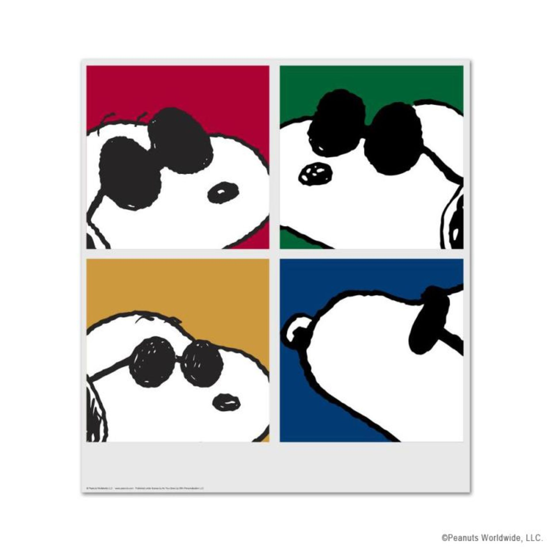 """Peanuts, """"Snoopy: Faces"""" Hand Numbered Limited Edition Fine Art Print with Certi"""