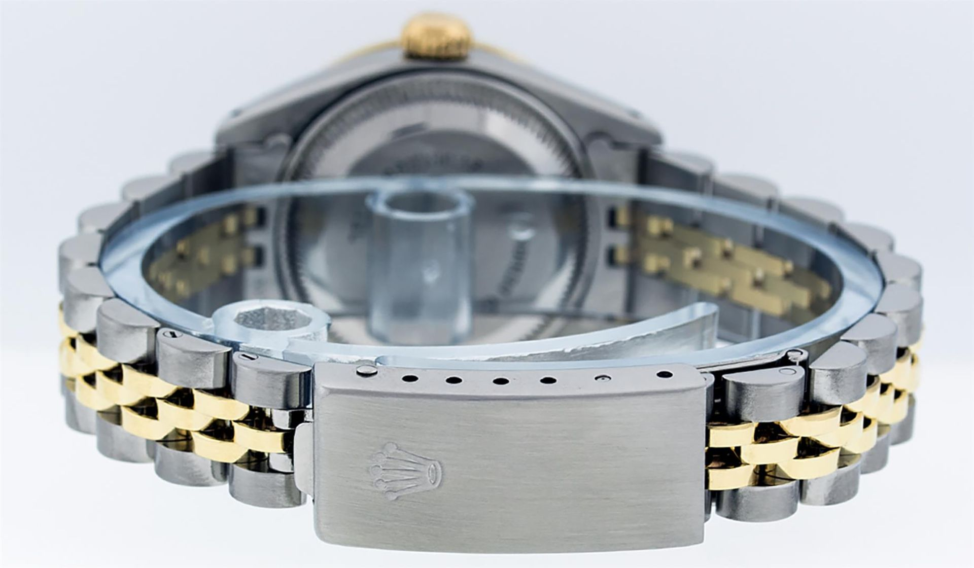 Rolex Ladies 2 Tone MOP Sapphire & Ruby 26MM Oyster Perpetual Datejust Wriswatch - Image 5 of 9