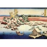 Hokusai - Winter Landscape of Suda