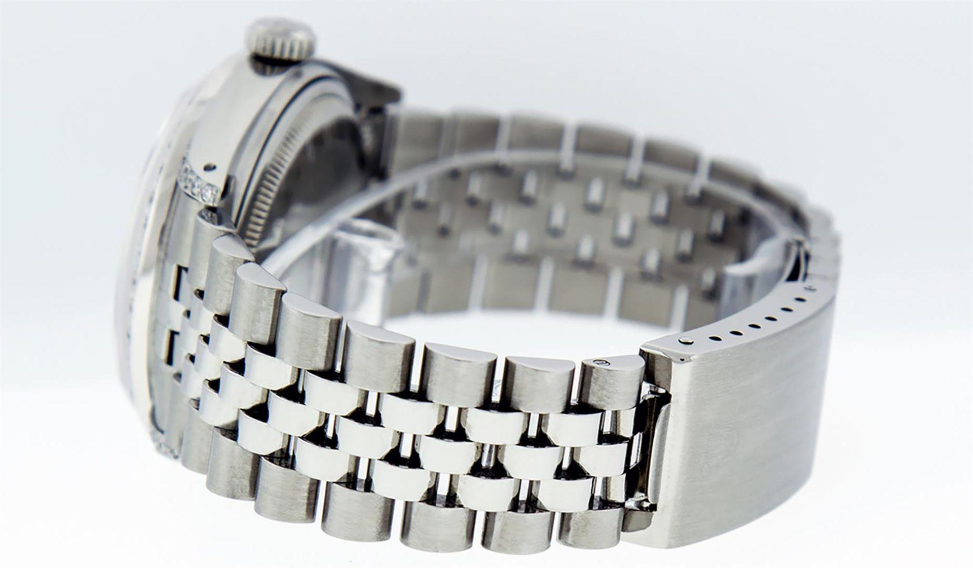 Rolex Mens Stainless Steel Diamond Lugs & Ruby Datejust Wristwatch - Image 7 of 8