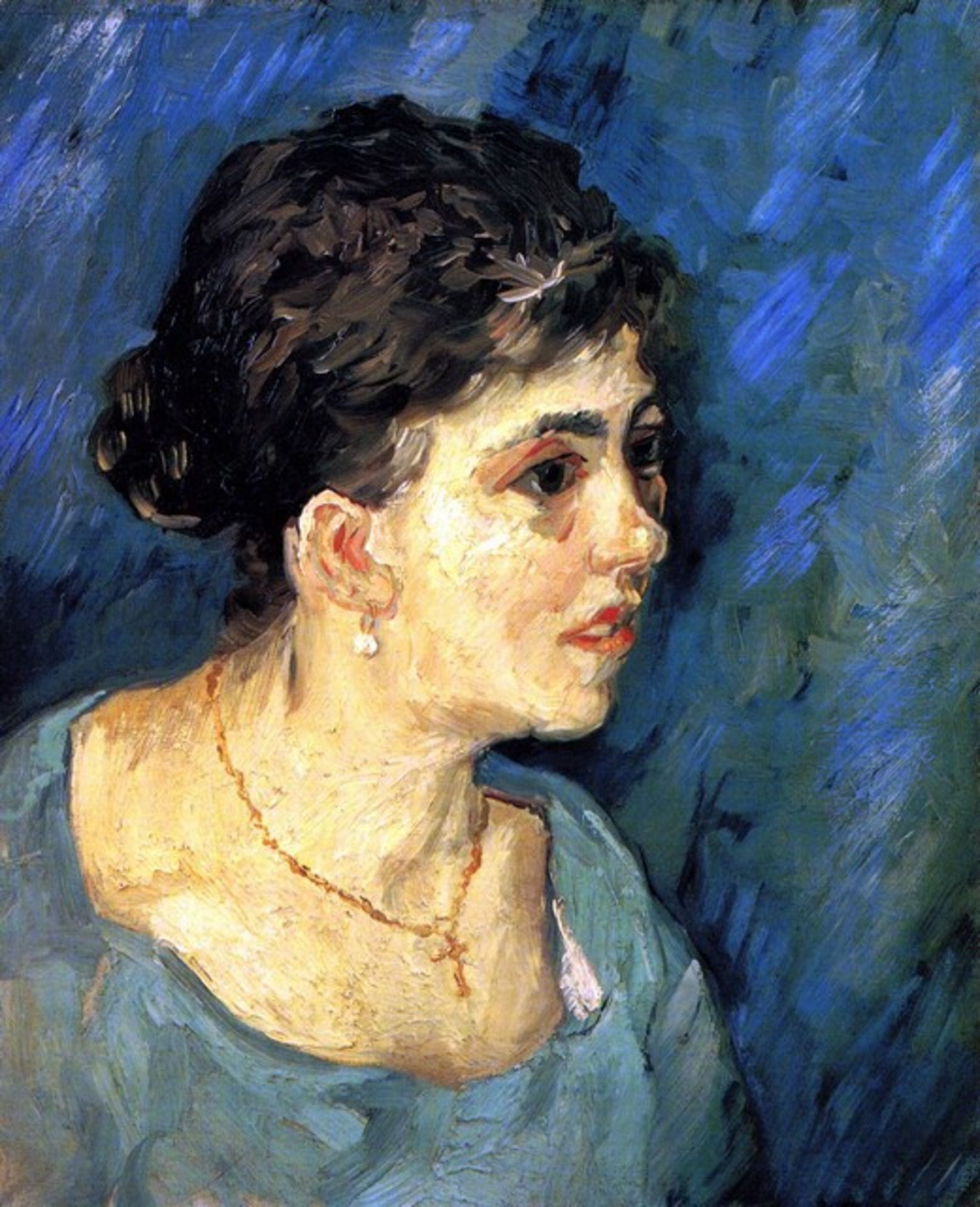 Van Gogh - Portrait Of Woman In Blue