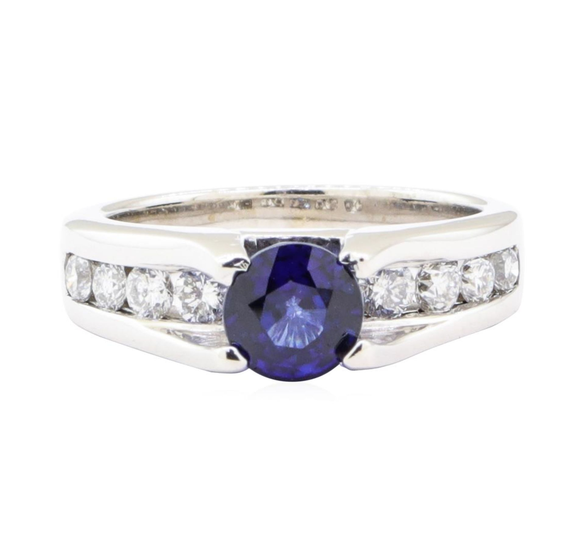 2.05ctw Sapphire and Diamond Ring - 14KT White Gold - Image 2 of 4