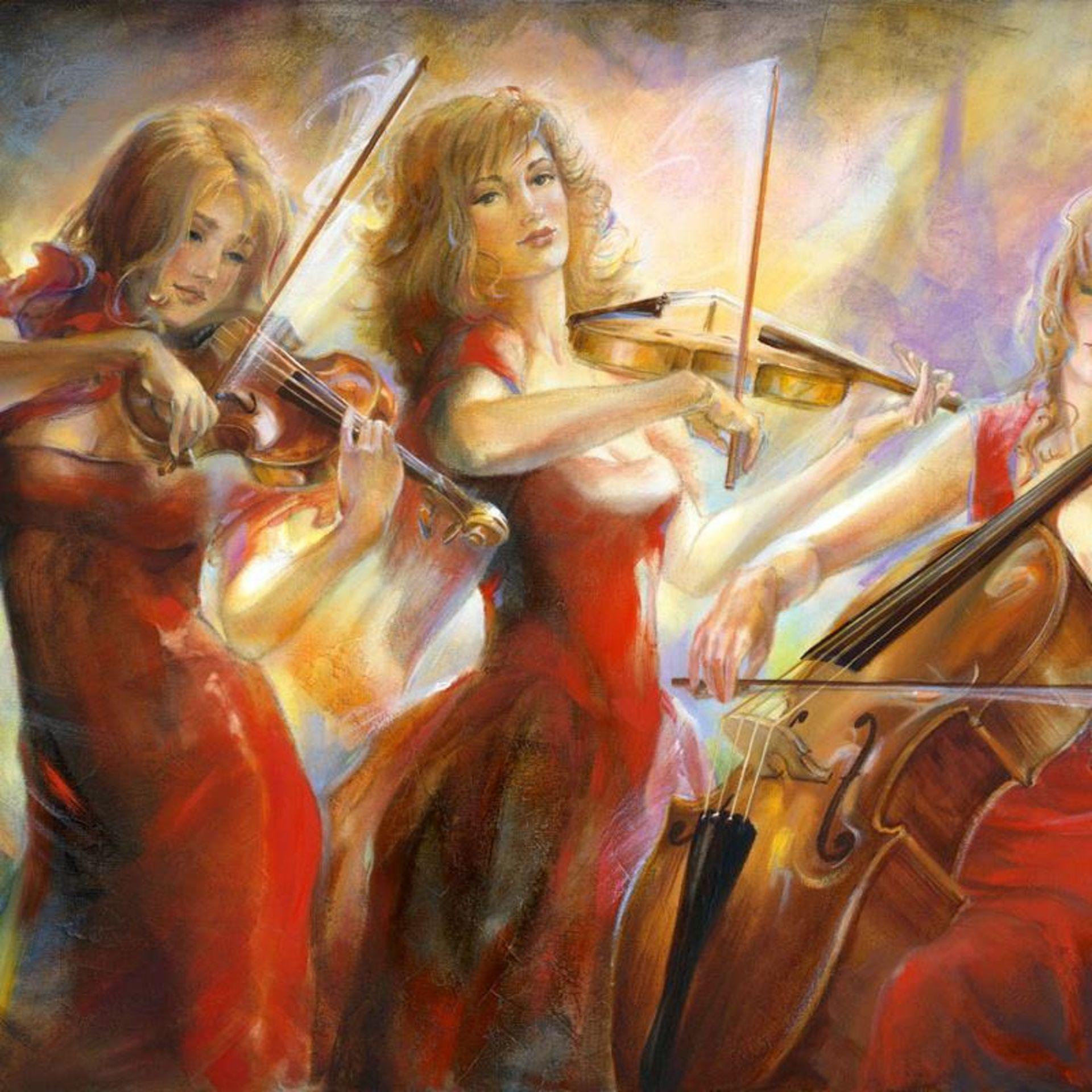 """Lena Sotskova, """"Concert"""" Hand Signed, Artist Embellished Limited Edition Giclee - Image 2 of 2"""