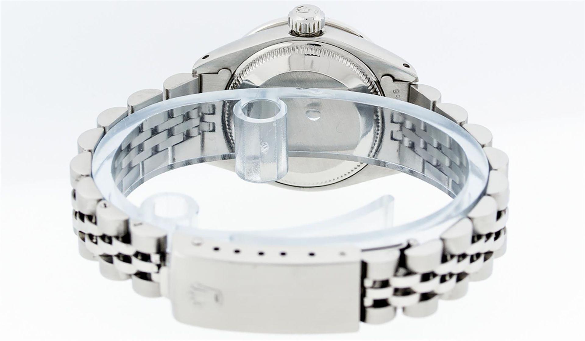 Rolex Ladies Stainless Steel MOP Diamond & Ruby 26MM Datejust Wristwatch - Image 6 of 9