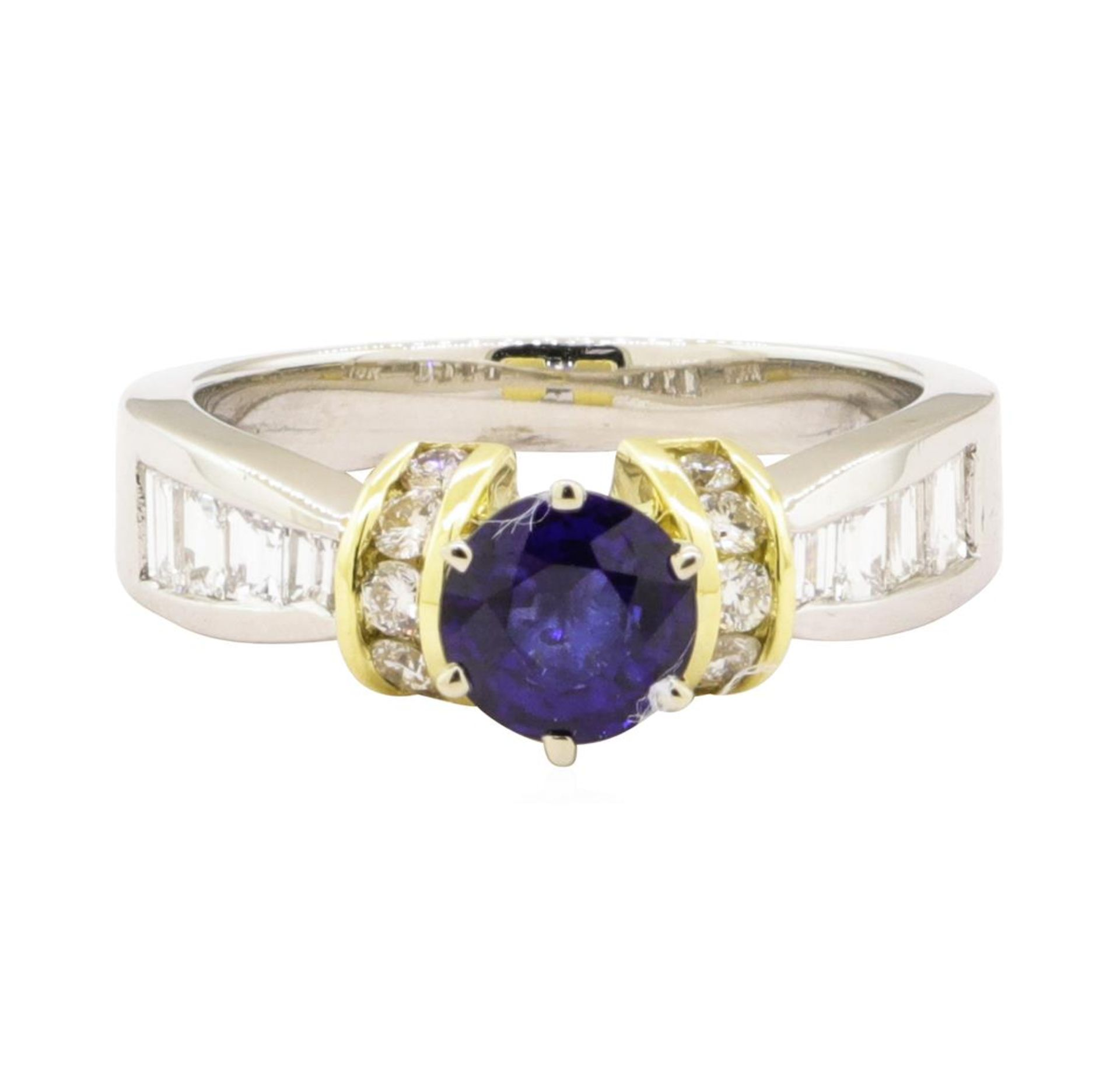 1.65 ctw Blue Sapphire And Diamond Ring - Platinum and 18KT Yellow Gold - Image 2 of 5
