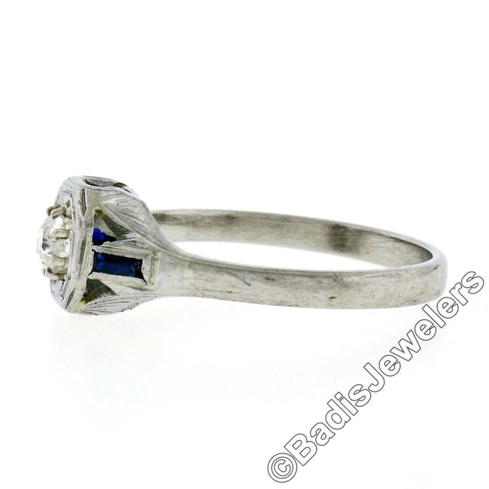 Art Deco 14kt White Gold 0.28ct Diamond Solitaire Engagement Ring - Image 6 of 7