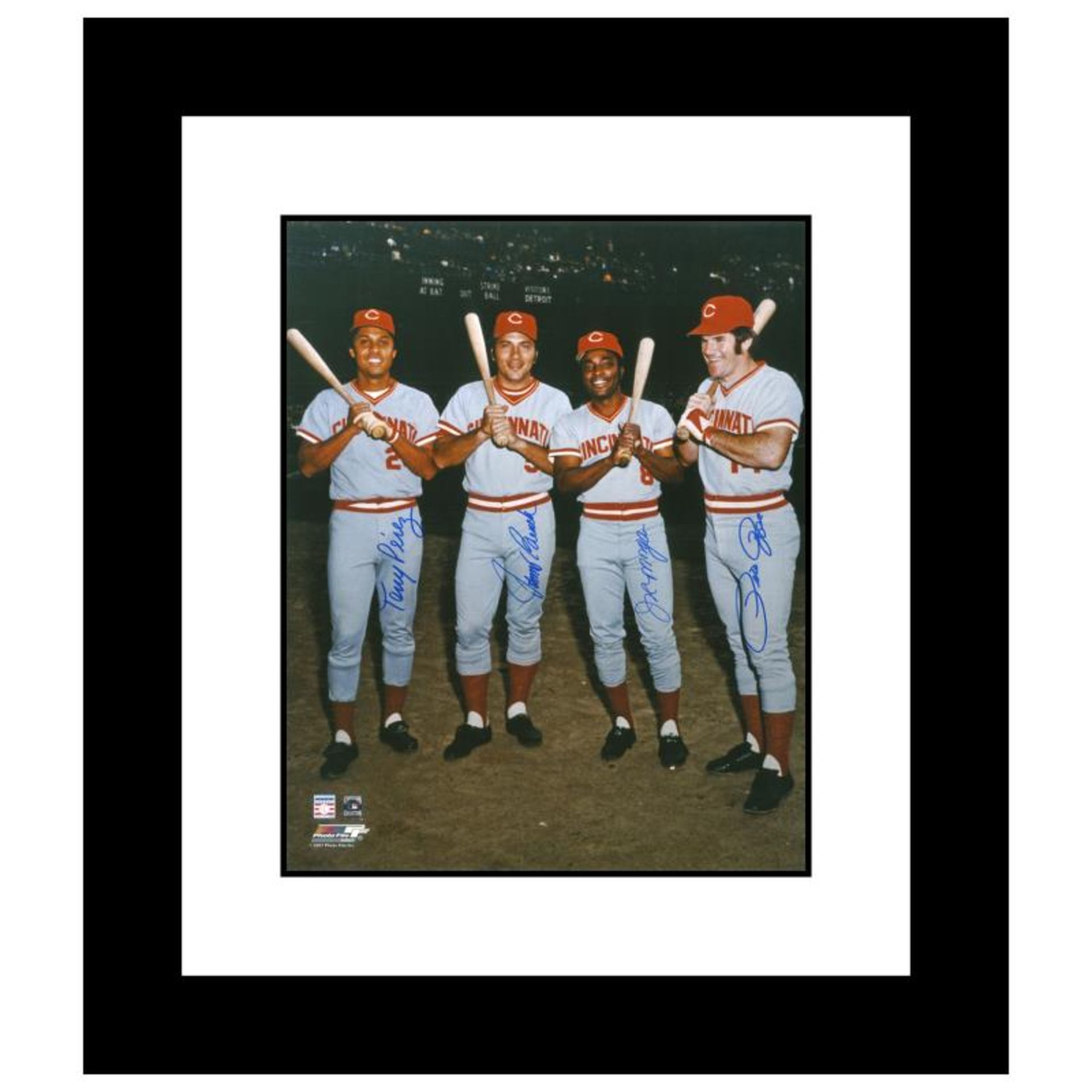 """""""The Big Four"""" Framed Photograph Autographed by the Big Red Machine's Johnny Ben"""