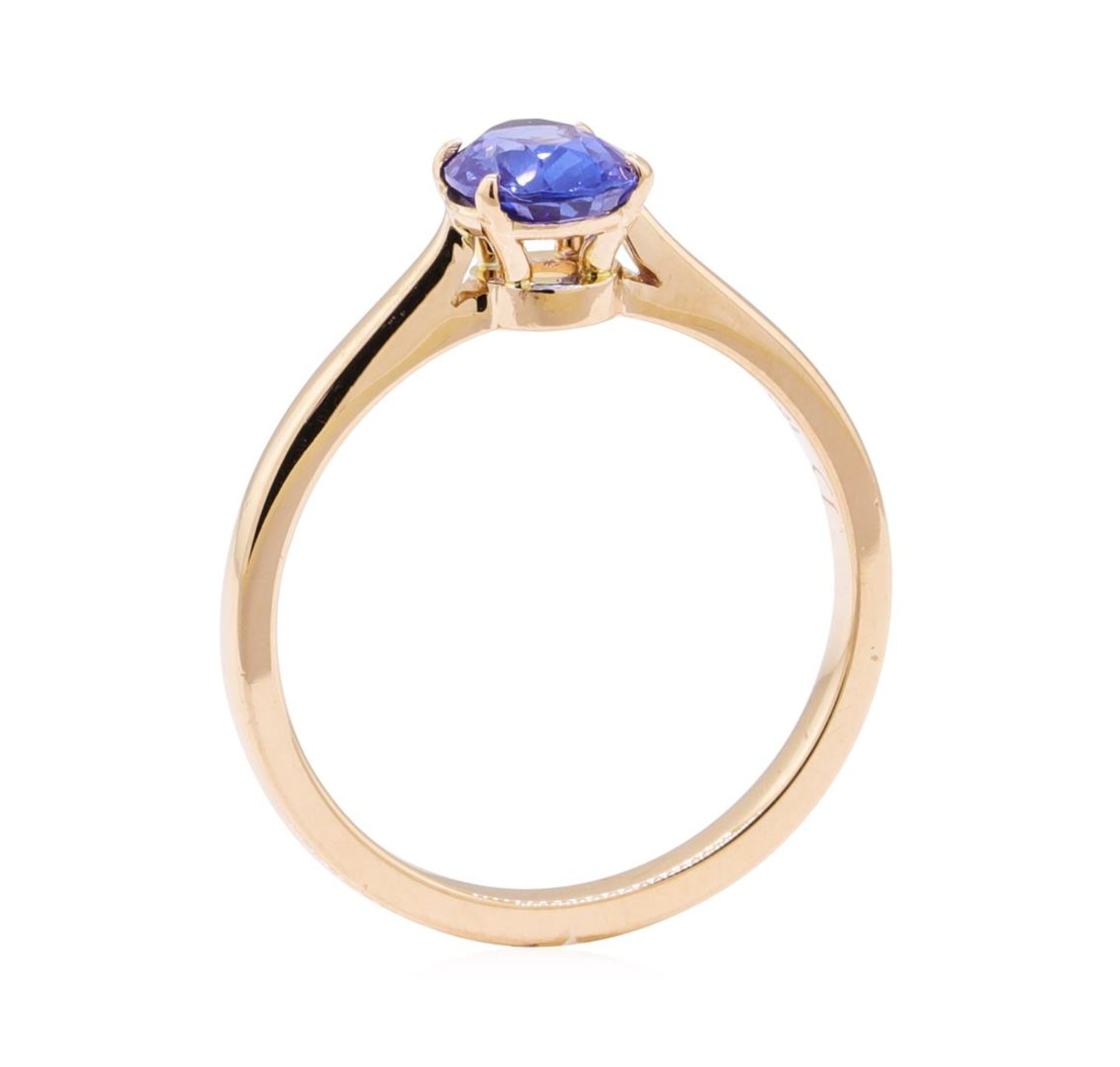 0.98ct Blue Sapphire Ring - 18KT Rose Gold - Image 4 of 4