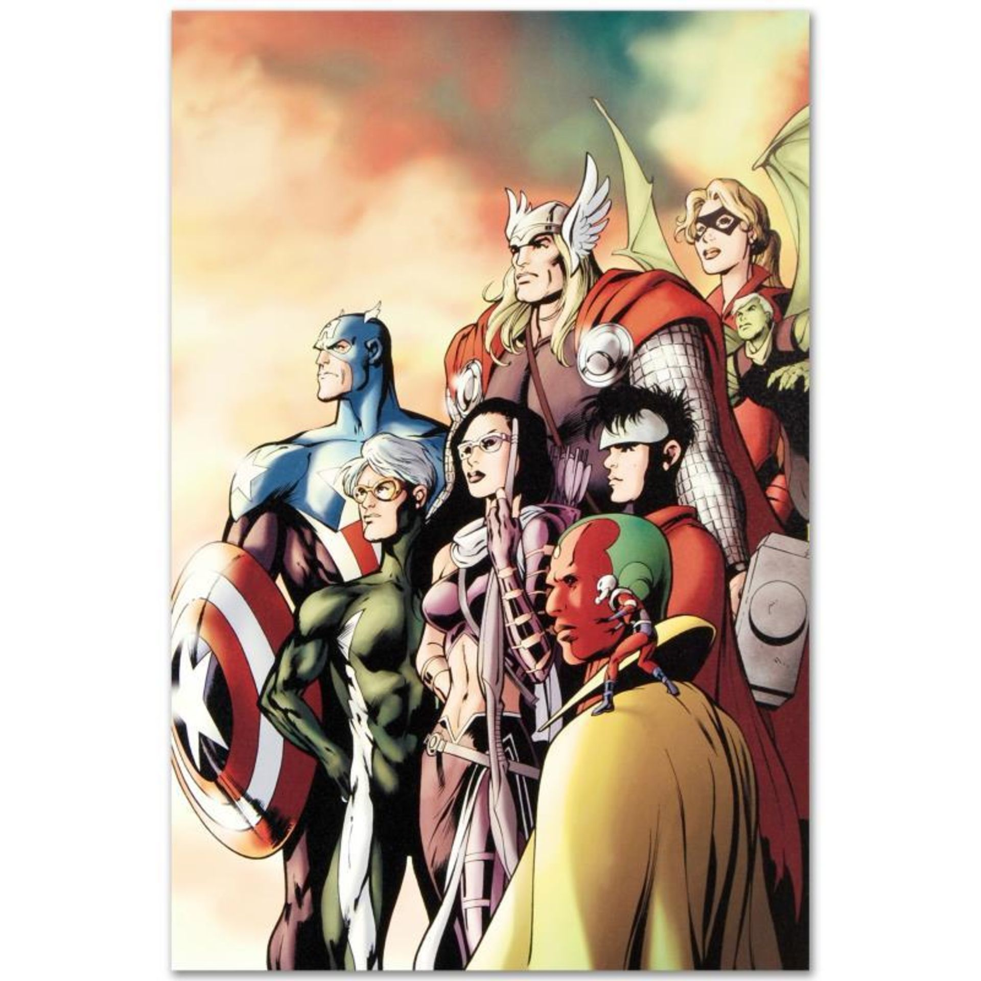 "Marvel Comics ""I Am an Avenger #5"" Numbered Limited Edition Giclee on Canvas by"