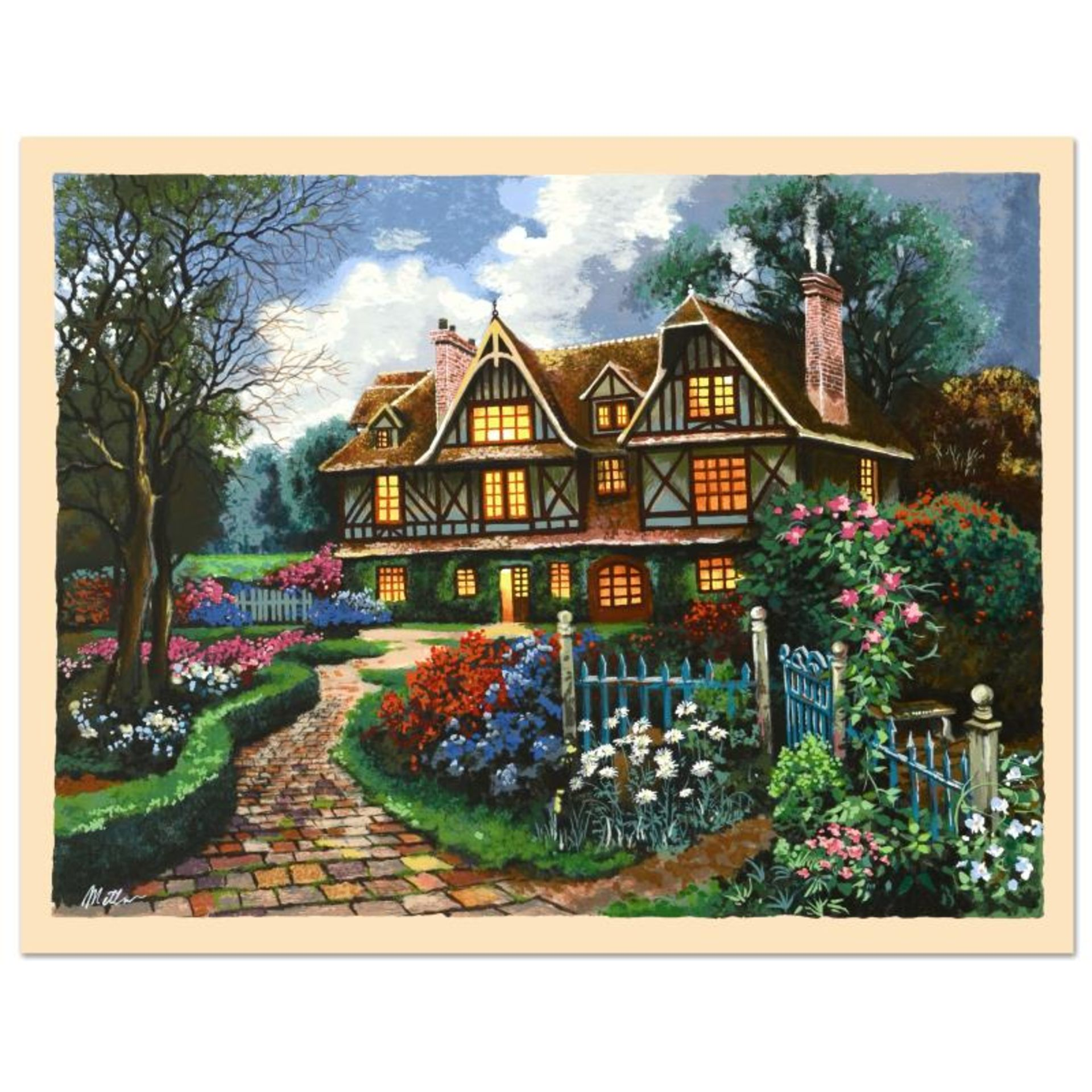 "Anatoly Metlan, ""Country Cottage"" Limited Edition Serigraph, Numbered and Hand S"