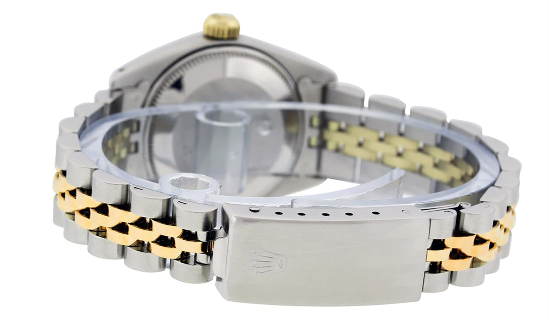 Rolex Ladies 2 Tone Yellow Gold & Stainless Steel Slate Grey Roman Datejust Wris - Image 5 of 9