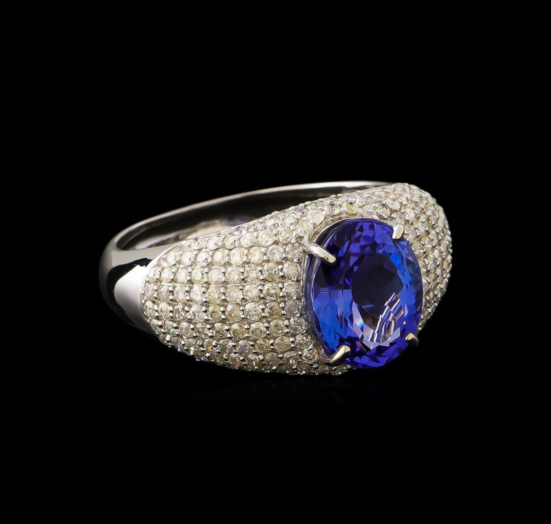 2.77ct Tanzanite and Diamond Ring - 14KT White Gold