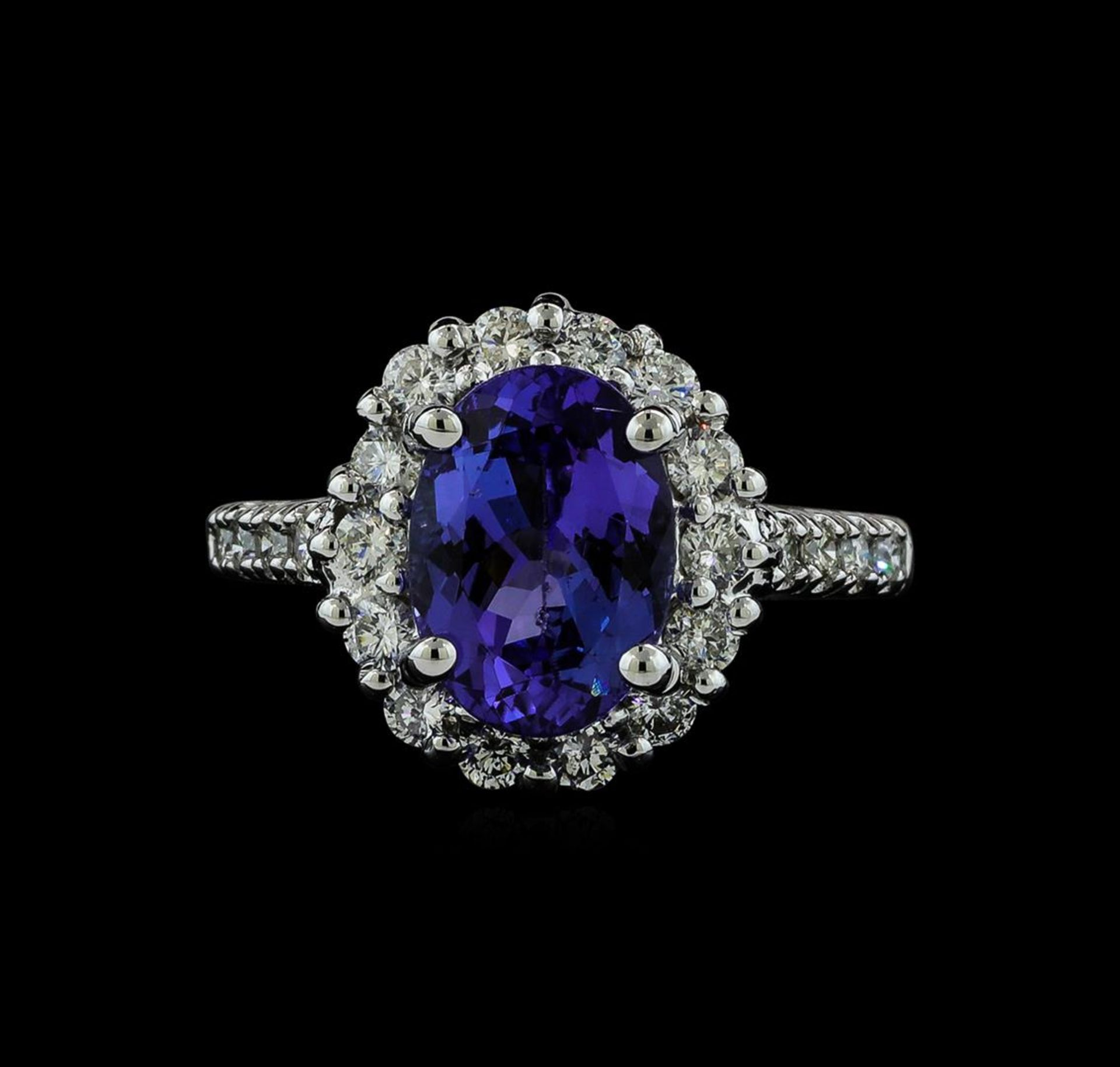 3.06 ctw Tanzanite and Diamond Ring - 14KT White Gold - Image 2 of 5