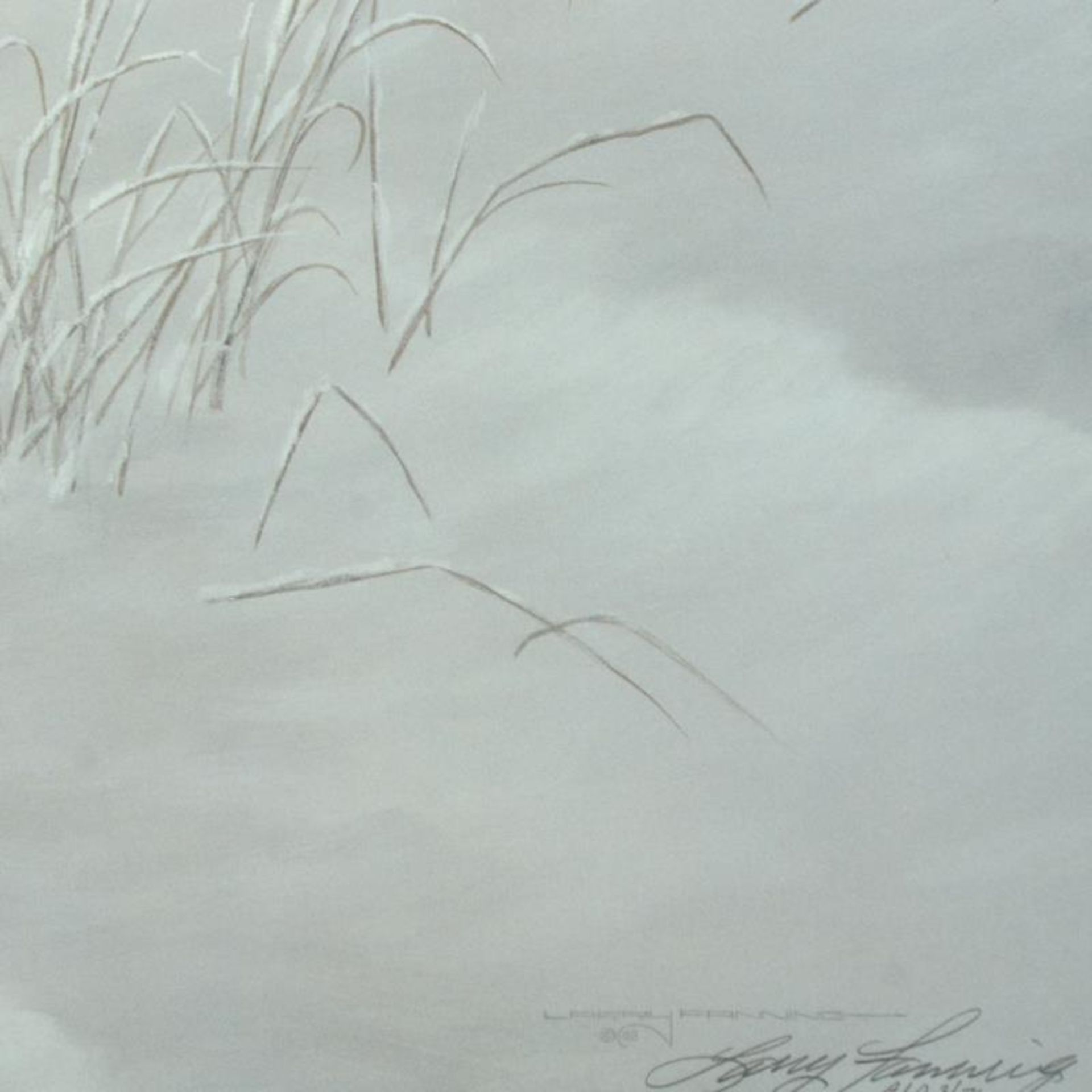 """Larry Fanning (1938-2014), """"Winter's Lace - Gray Wolves"""" Limited Edition Lithogr - Image 3 of 3"""