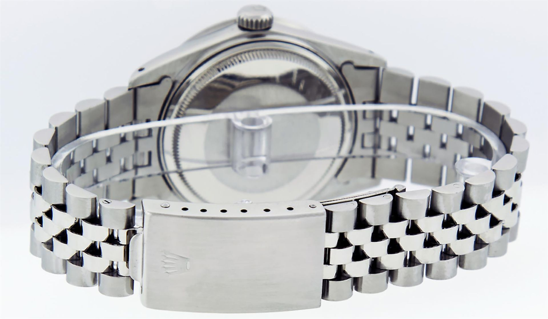 Rolex Mens Stainless Steel Mother Of Pearl Diamond 36MM Oyster Perpetual Datejus - Image 6 of 8