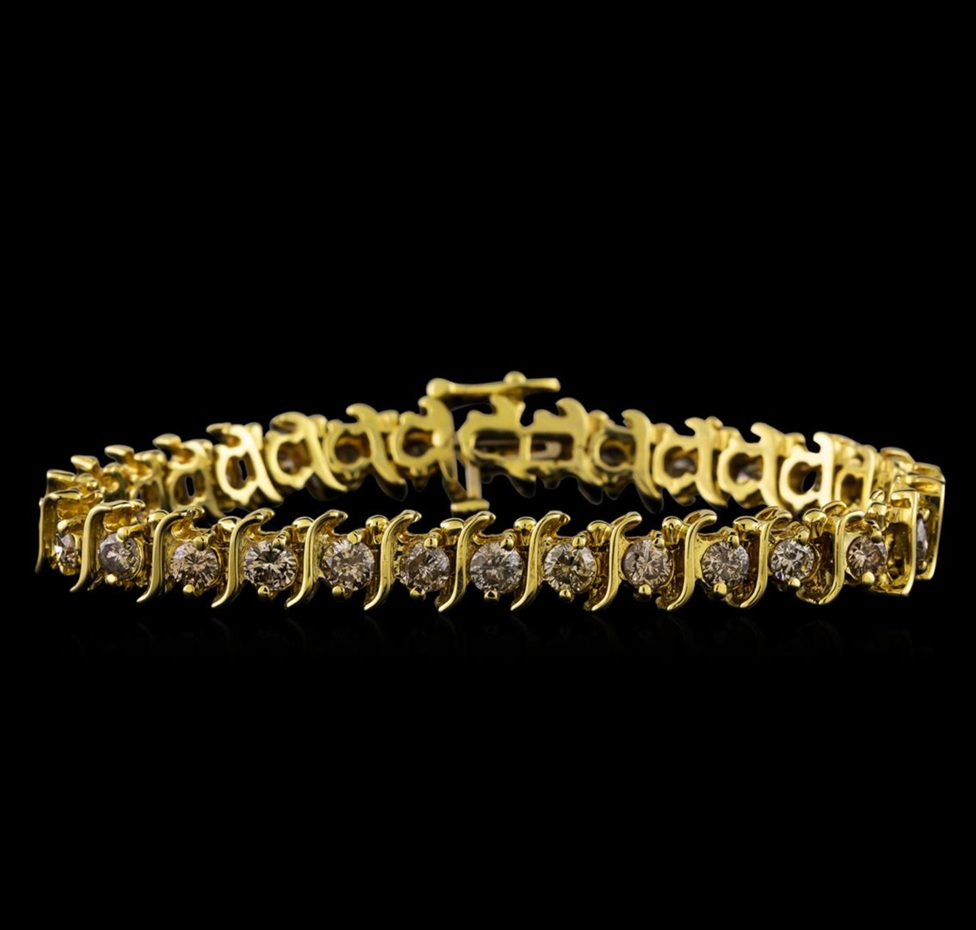 4.85 ctw Diamond Bracelet - 14KT Yellow Gold