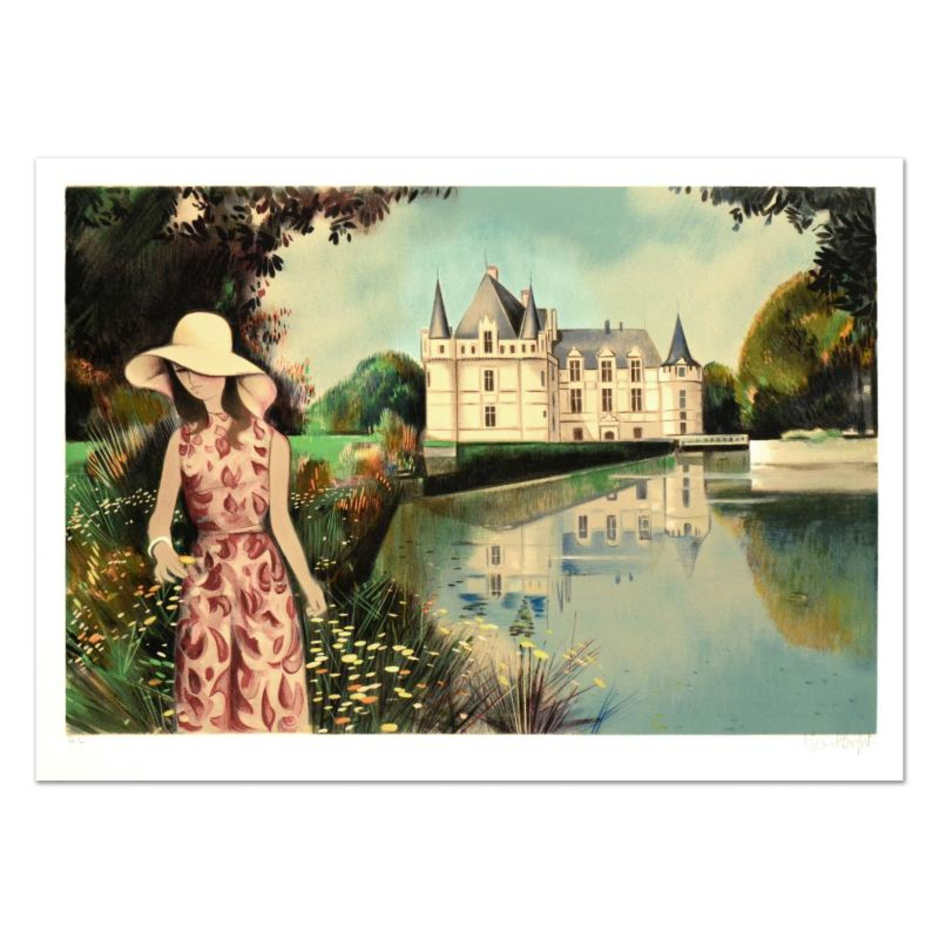 """Robert Vernet Bonfort, """"Solitude"""" Limited Edition Lithograph, Numbered and Hand"""