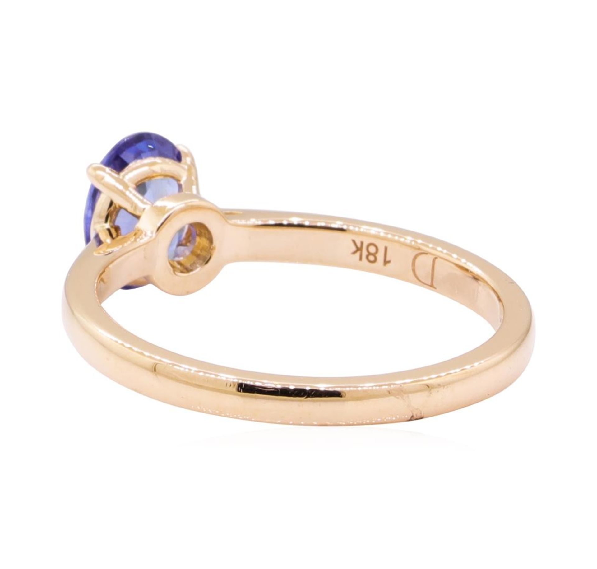 0.98ct Blue Sapphire Ring - 18KT Rose Gold - Image 3 of 4