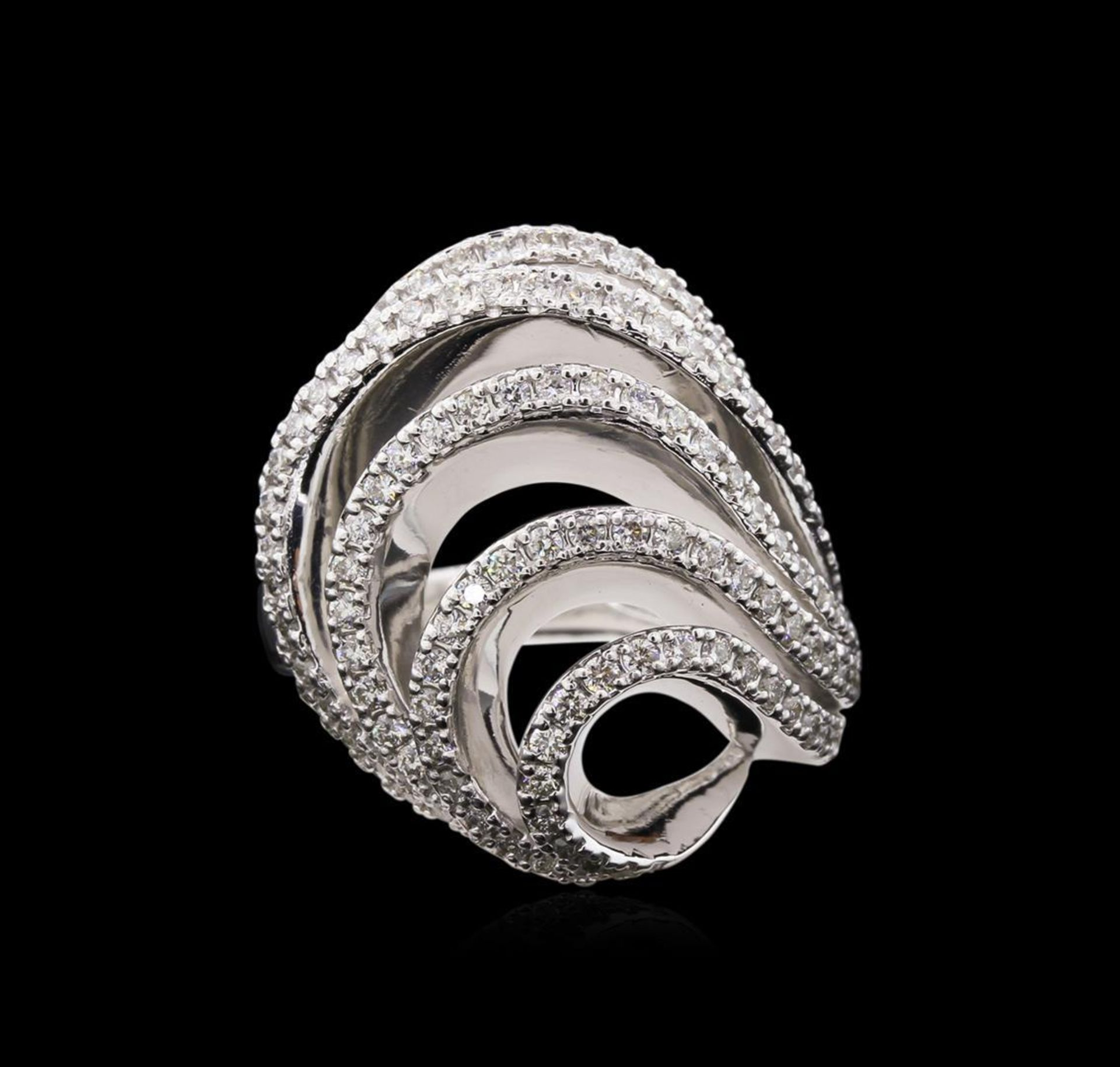 1.11 ctw Diamond Ring - 14KT White Gold - Image 2 of 3