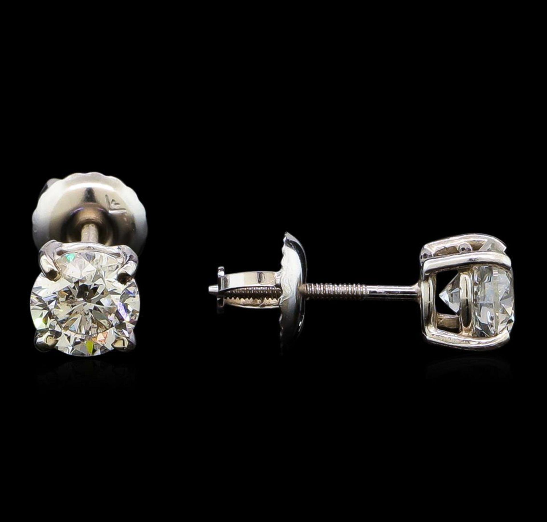1.03 ctw Diamond Stud Earrings - 14KT White Gold - Image 2 of 3