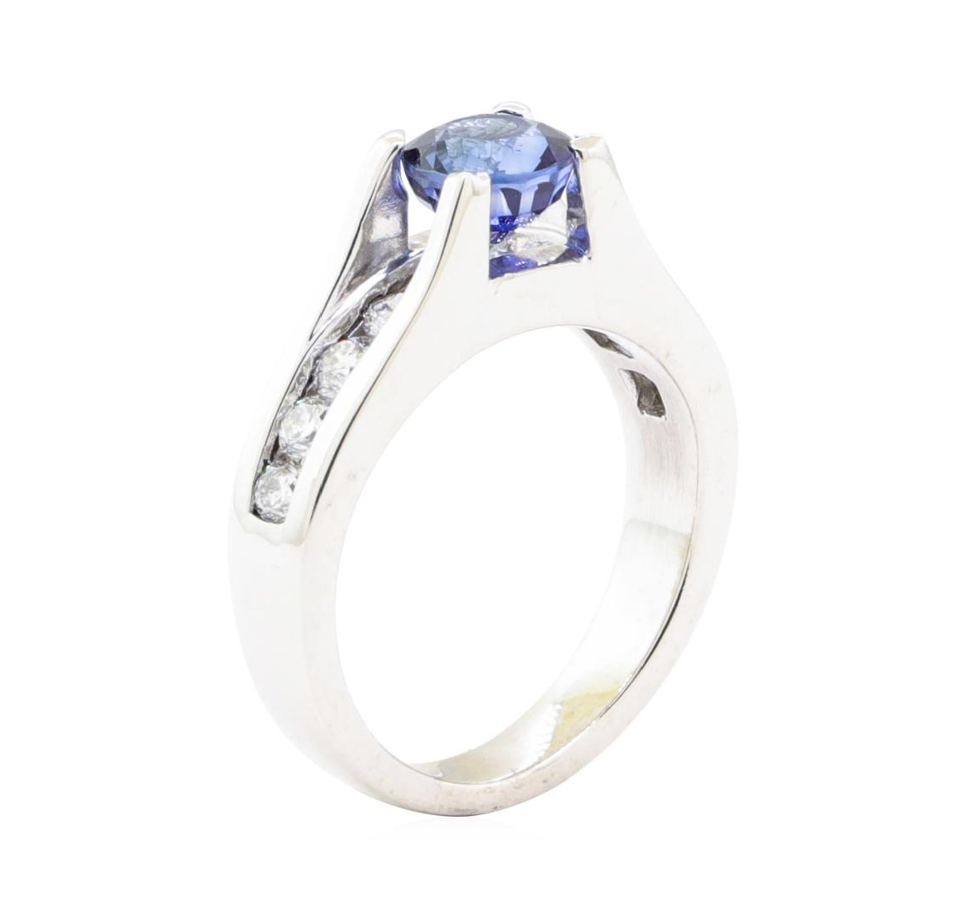 2.05ctw Sapphire and Diamond Ring - 14KT White Gold - Image 4 of 4