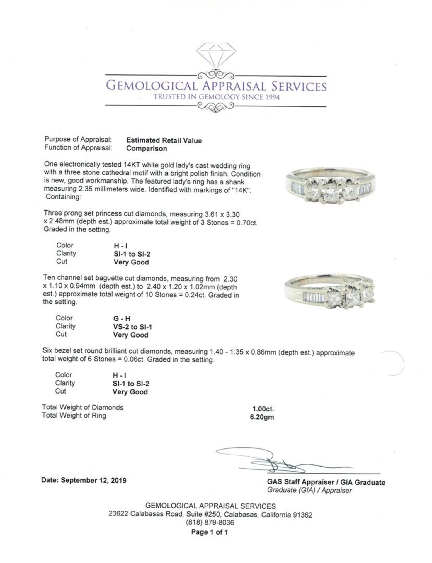 1.00 ctw Diamond Ring - 14KT White Gold - Image 5 of 5