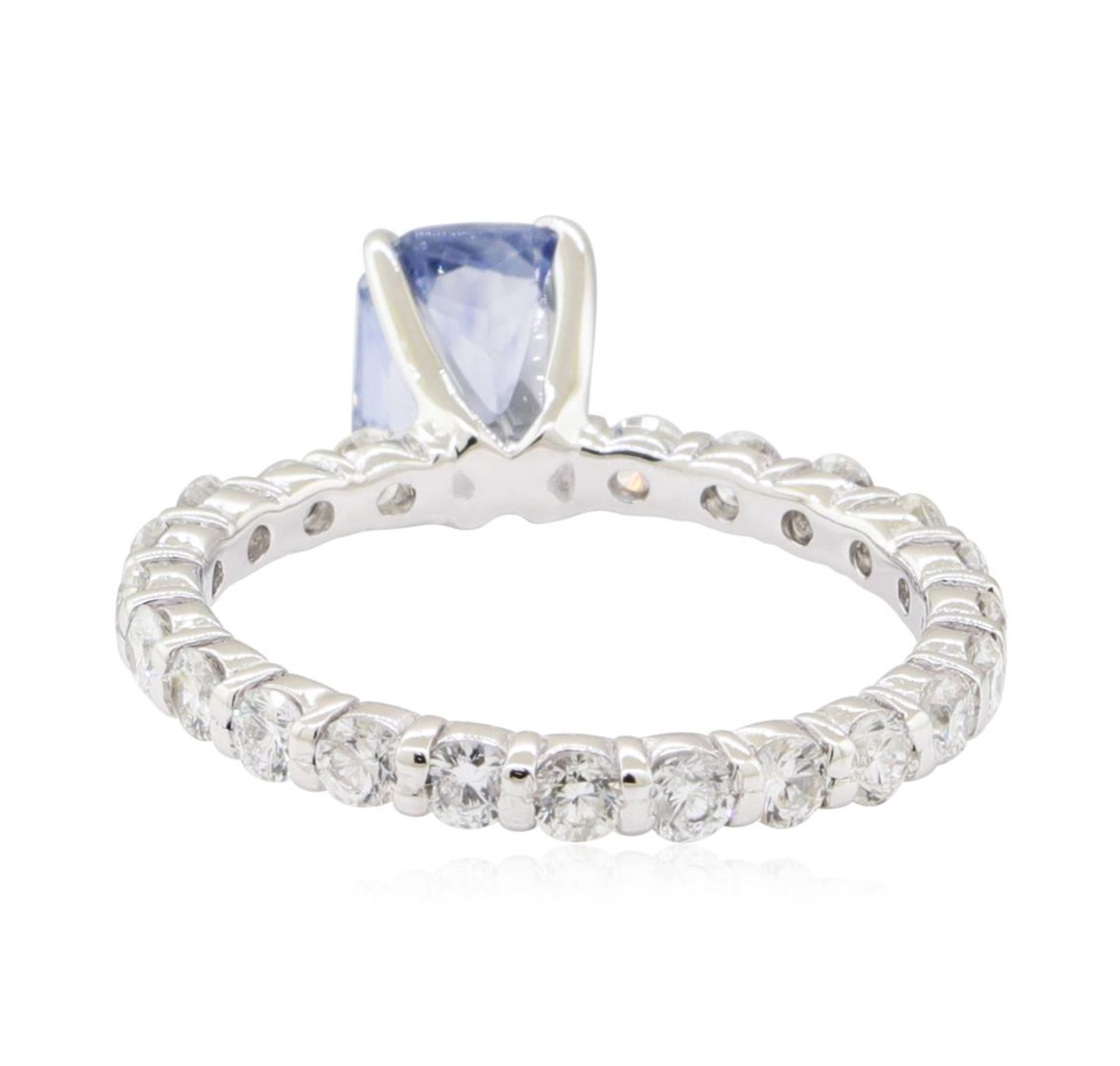 2.84 ctw Sapphire and Diamond Ring - 14KT White Gold - Image 3 of 5