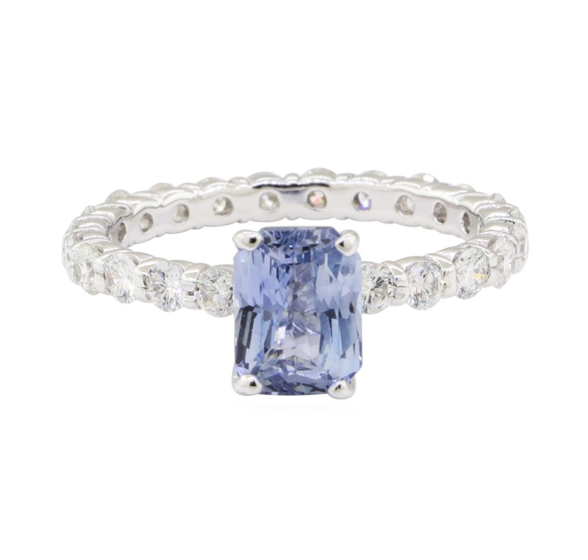 2.84 ctw Sapphire and Diamond Ring - 14KT White Gold - Image 2 of 5