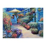 "Howard Behrens (1933-2014), ""Nantucket Flower Market"" Limited Edition on Canvas,"