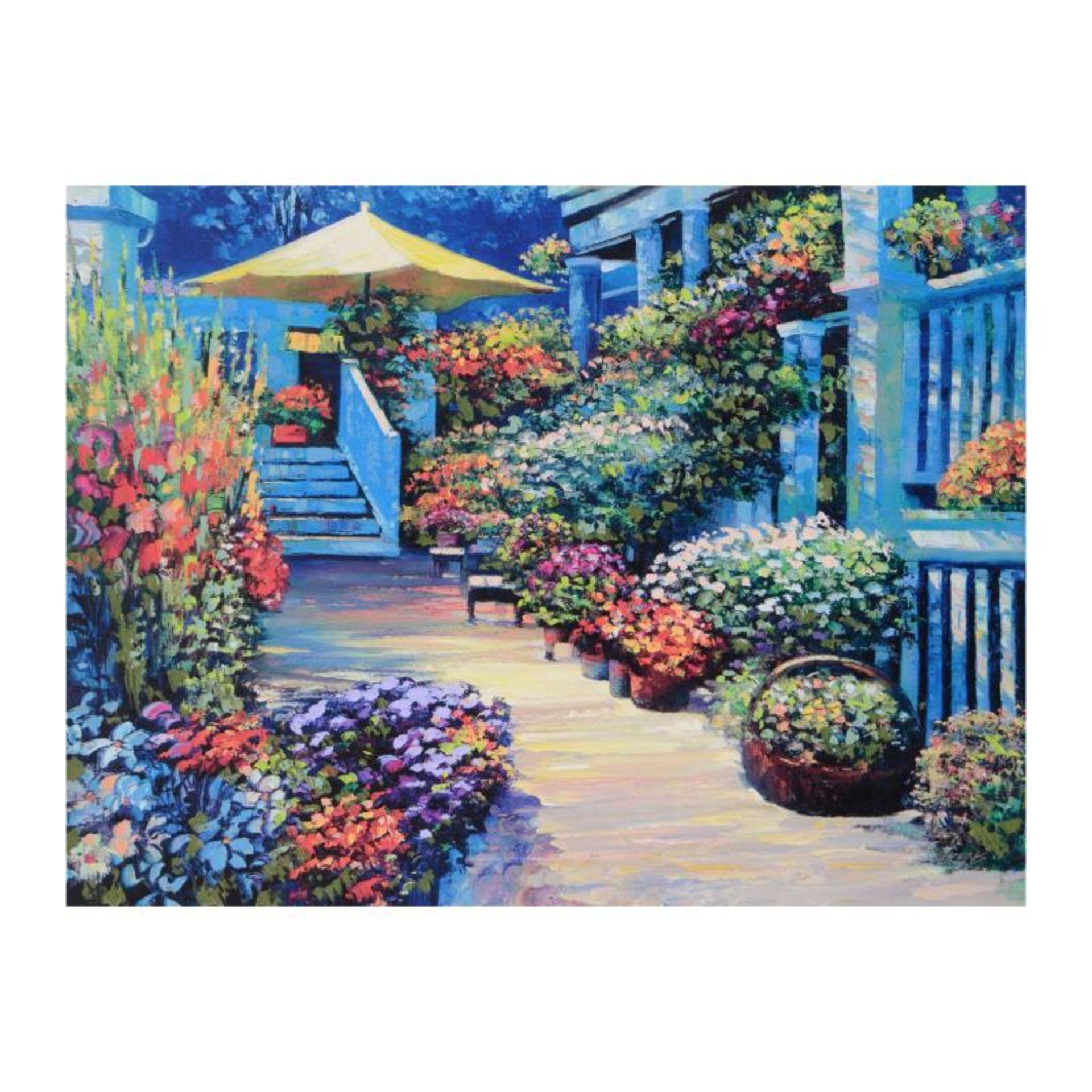 "Howard Behrens (1933-2014), ""Nantucket Flower Market"" Limited Edition on Canvas,"