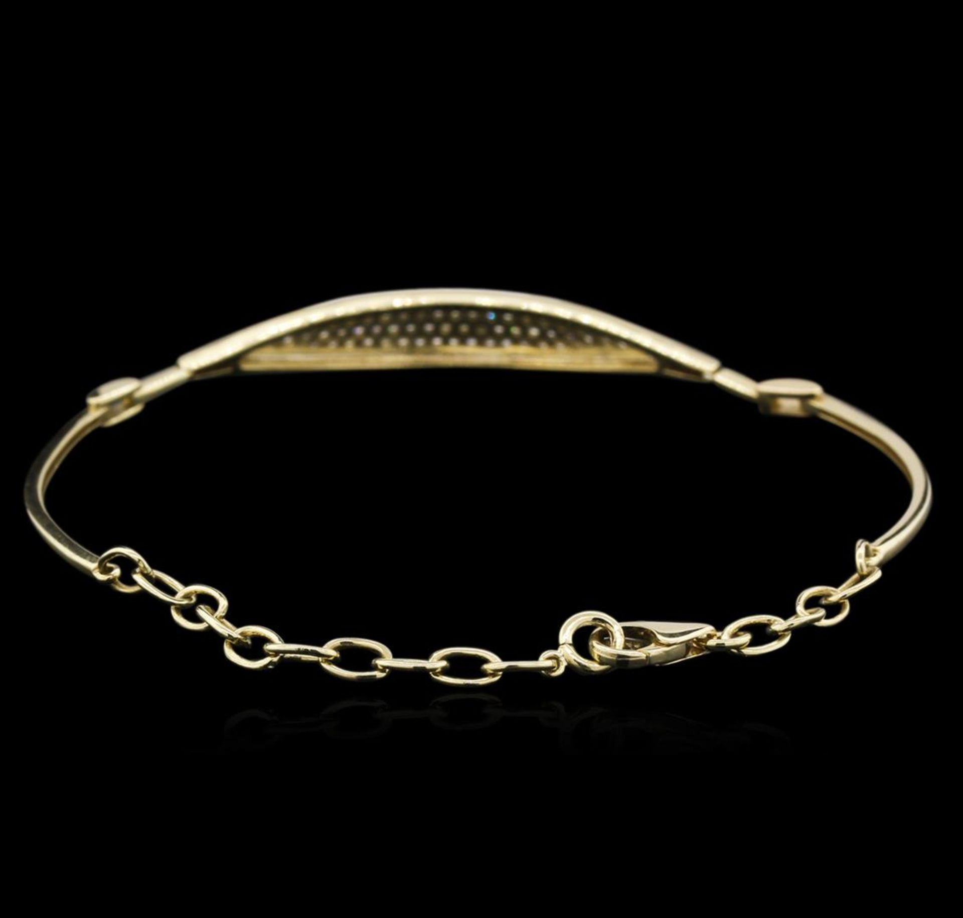 0.33 ctw Diamond Bracelet - 14KT Yellow Gold - Image 2 of 3