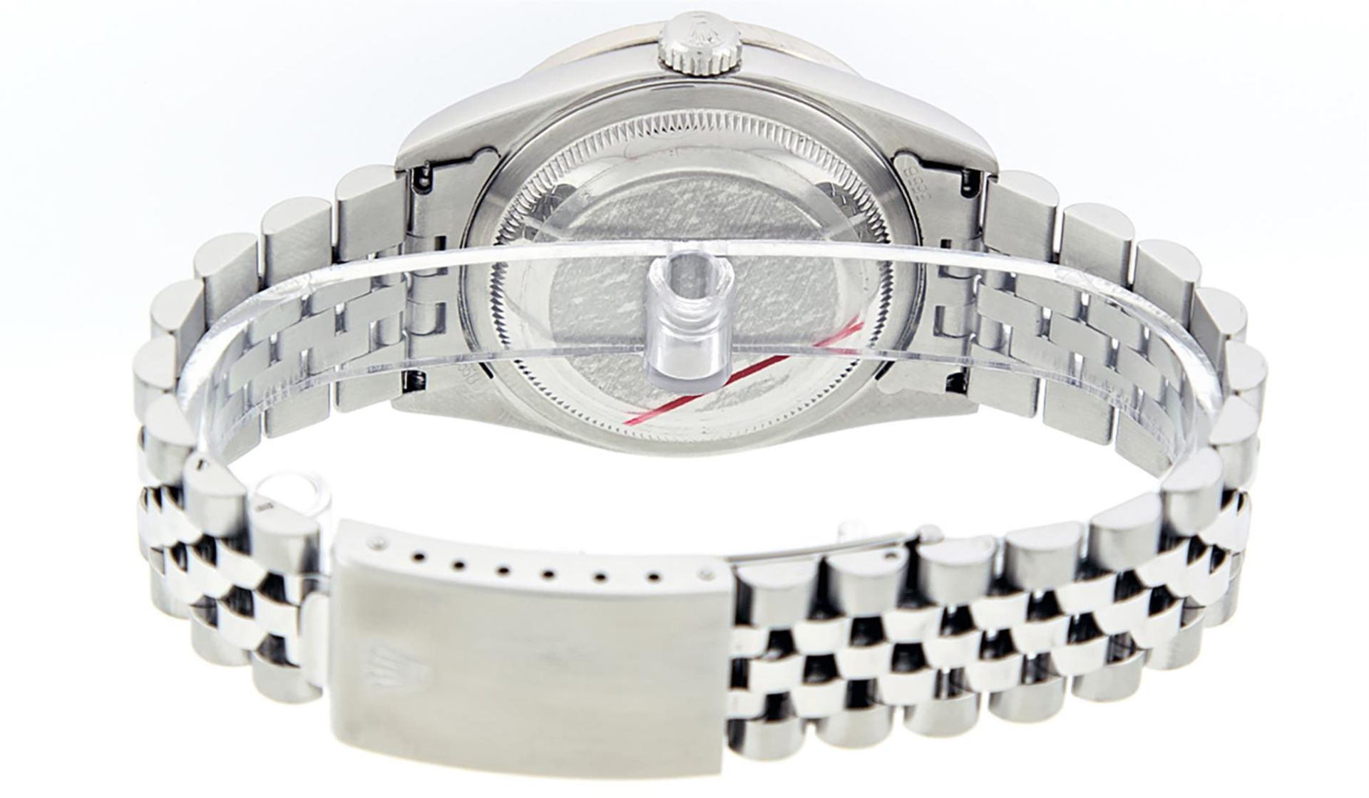 Rolex Mens Stainless Steel Mother Of Pearl Diamond 36MM Datejust Wristwatch - Image 7 of 8