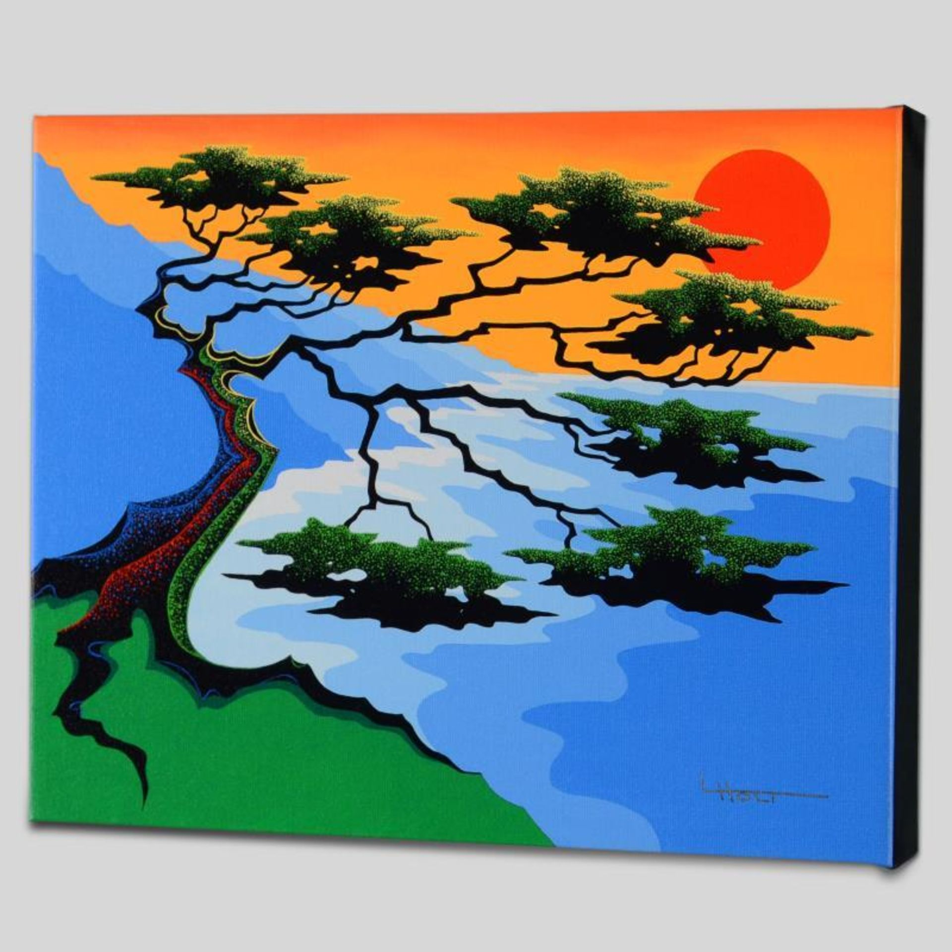 """Sunset"" Limited Edition Giclee on Canvas by Larissa Holt, Numbered and Signed. - Image 2 of 2"