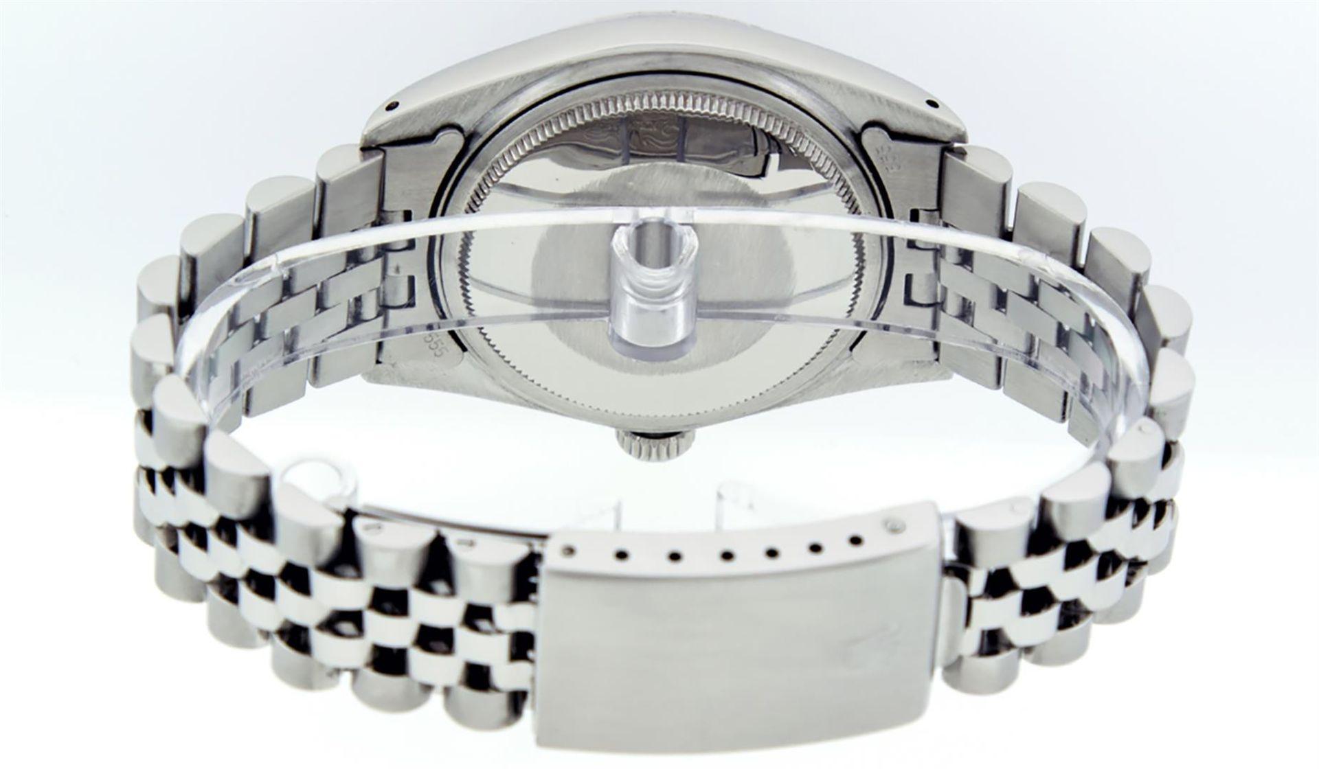 Rolex Ladies 2 Tone Pink MOP Diamond & Sapphire String Datejust Wristwatch - Image 5 of 9