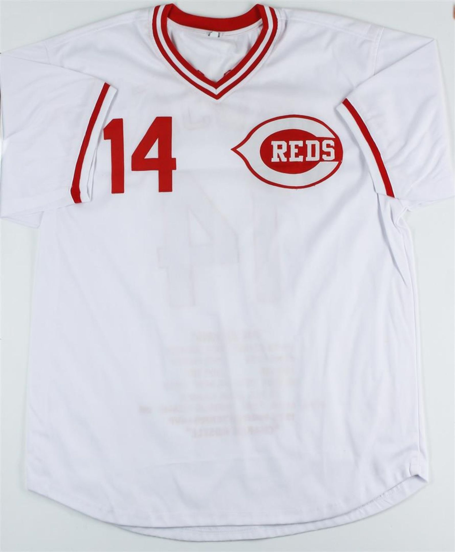 Cincinnati Reds Pete Rose Autographed Jersey With Stats - Image 3 of 3