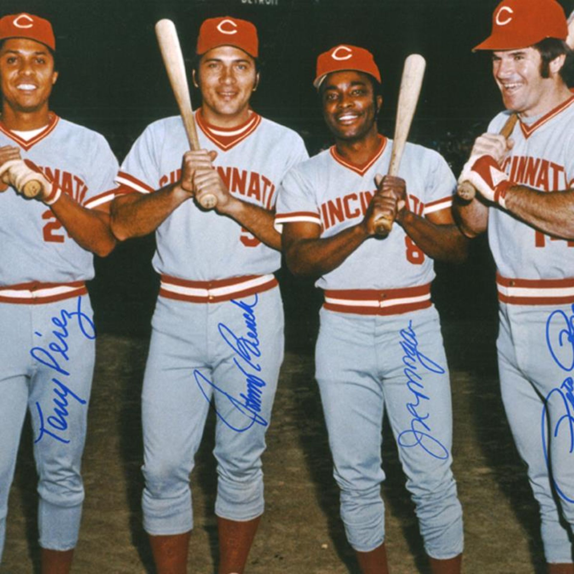 """""""The Big Four"""" Framed Photograph Autographed by the Big Red Machine's Johnny Ben - Image 2 of 2"""