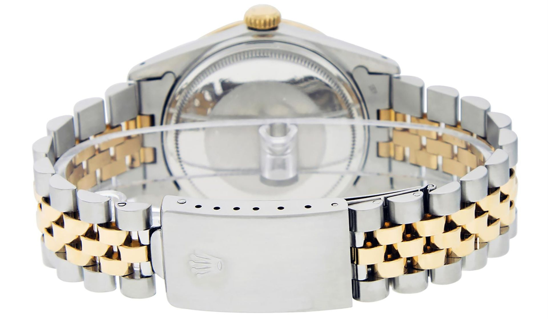 Rolex Mens 2 Tone Mother Of Pearl Diamond 36MM Oyster Perpetual Datejust - Image 4 of 7